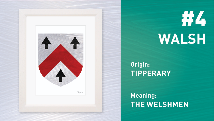 Walsh Coat of Arms - Painted Clans