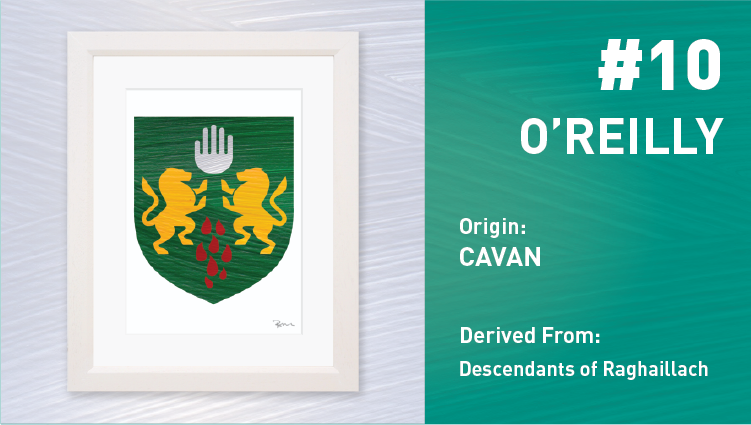 O'Reilly Coat of Arms - Painted Clans