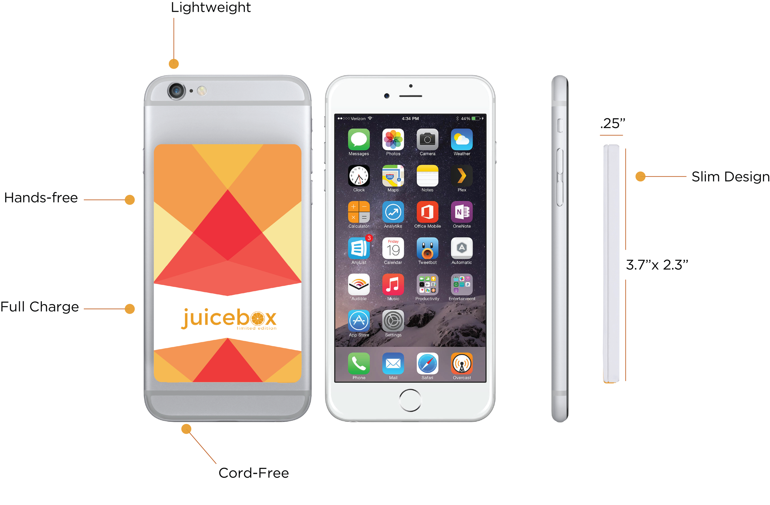 Juicebox :: Slim, lightweight portable phone charger