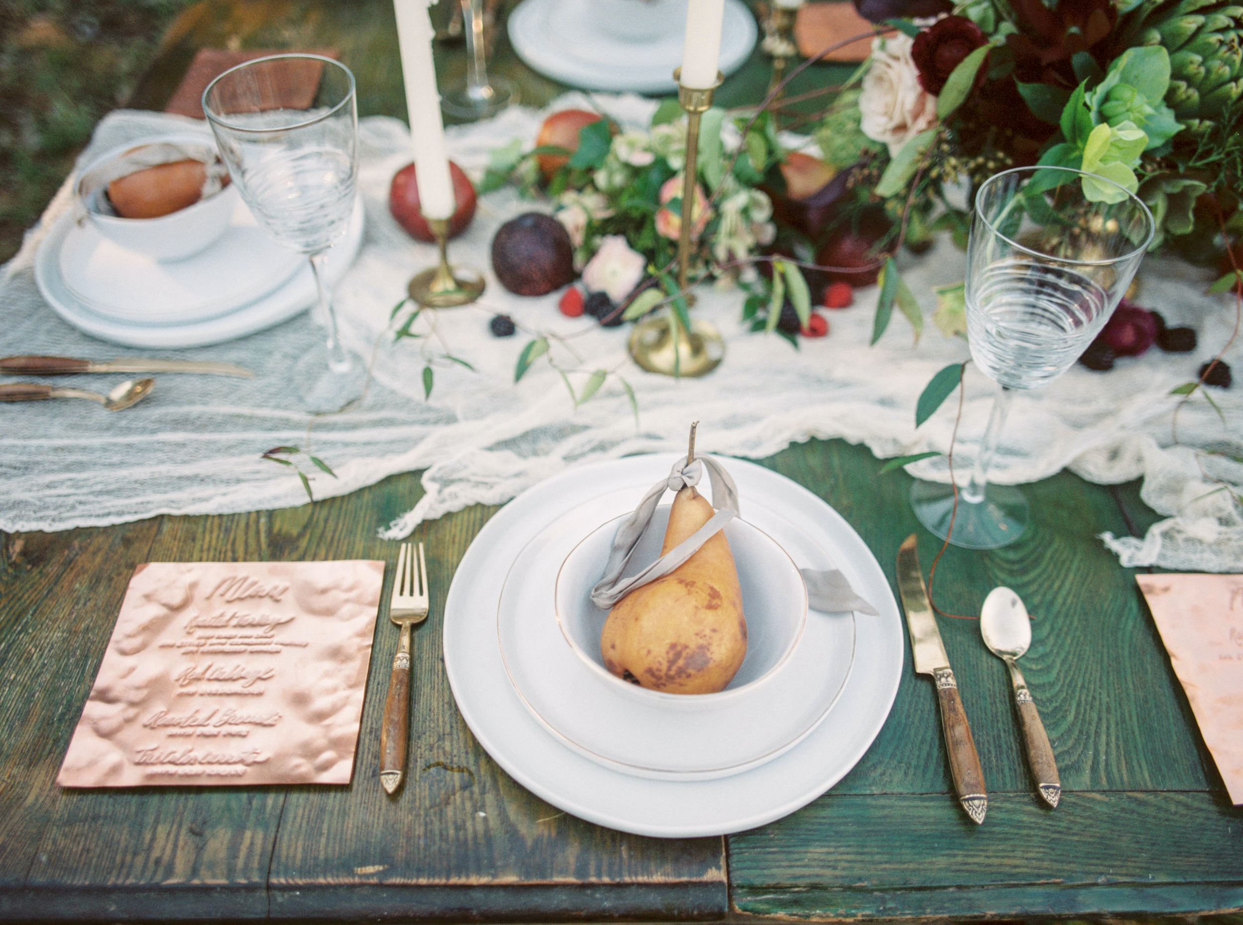 Farm to table floral tablescape