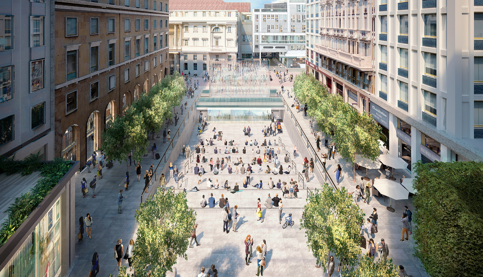 Proposed Apple 'Flagship' Store, Piazza del Liberty, Milan | image: Apple