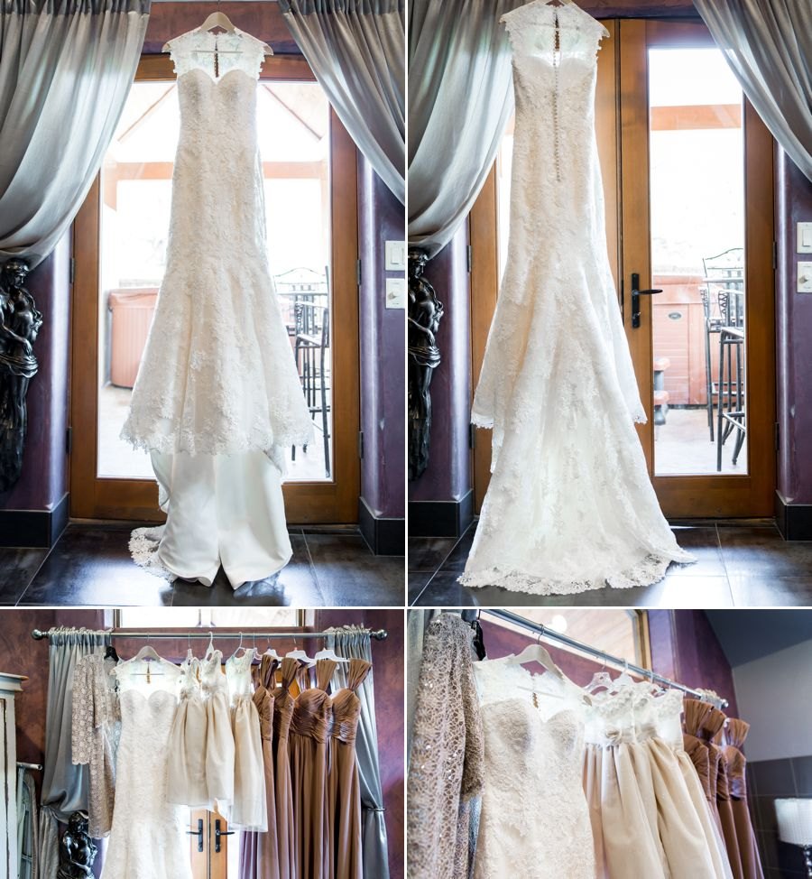 Stunning Justin Alexander gown purchased at Bridal Collection.