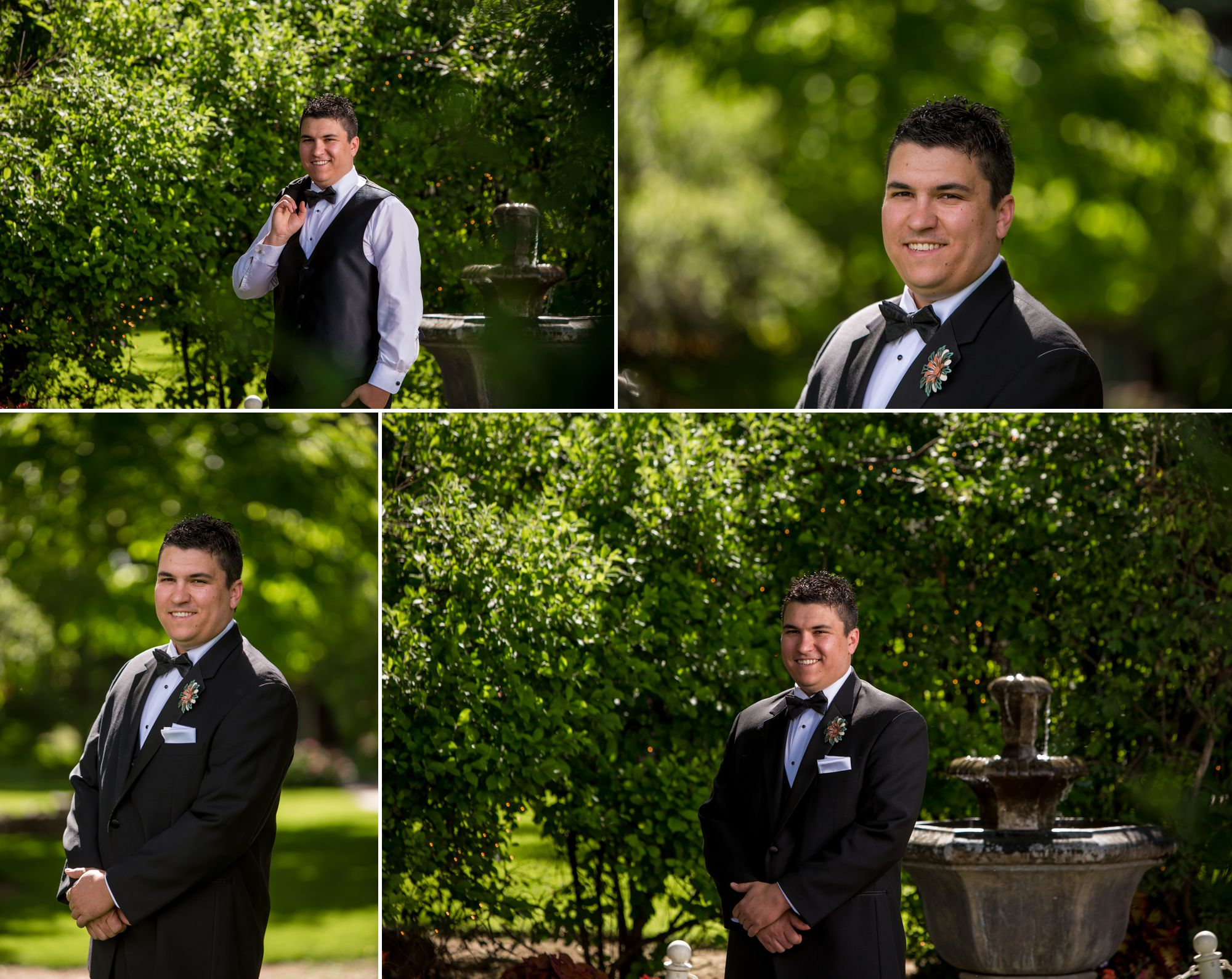 Handsome groom at the Tapestry House