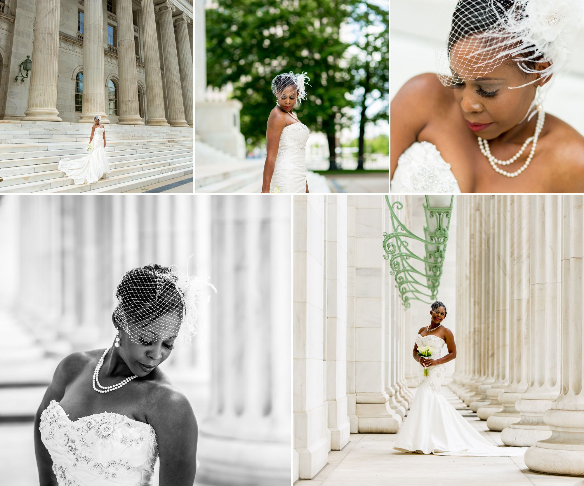 The Denver Courthouse was perfect for Joi's vision!  Between her beautiful skin tone, the dress, flowers, building and light fixtures, you could not have asked for a better place!