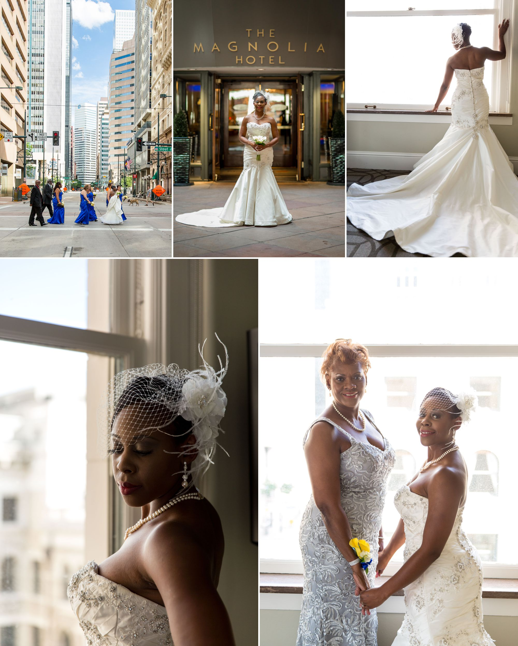 A stunning bride and her mama!