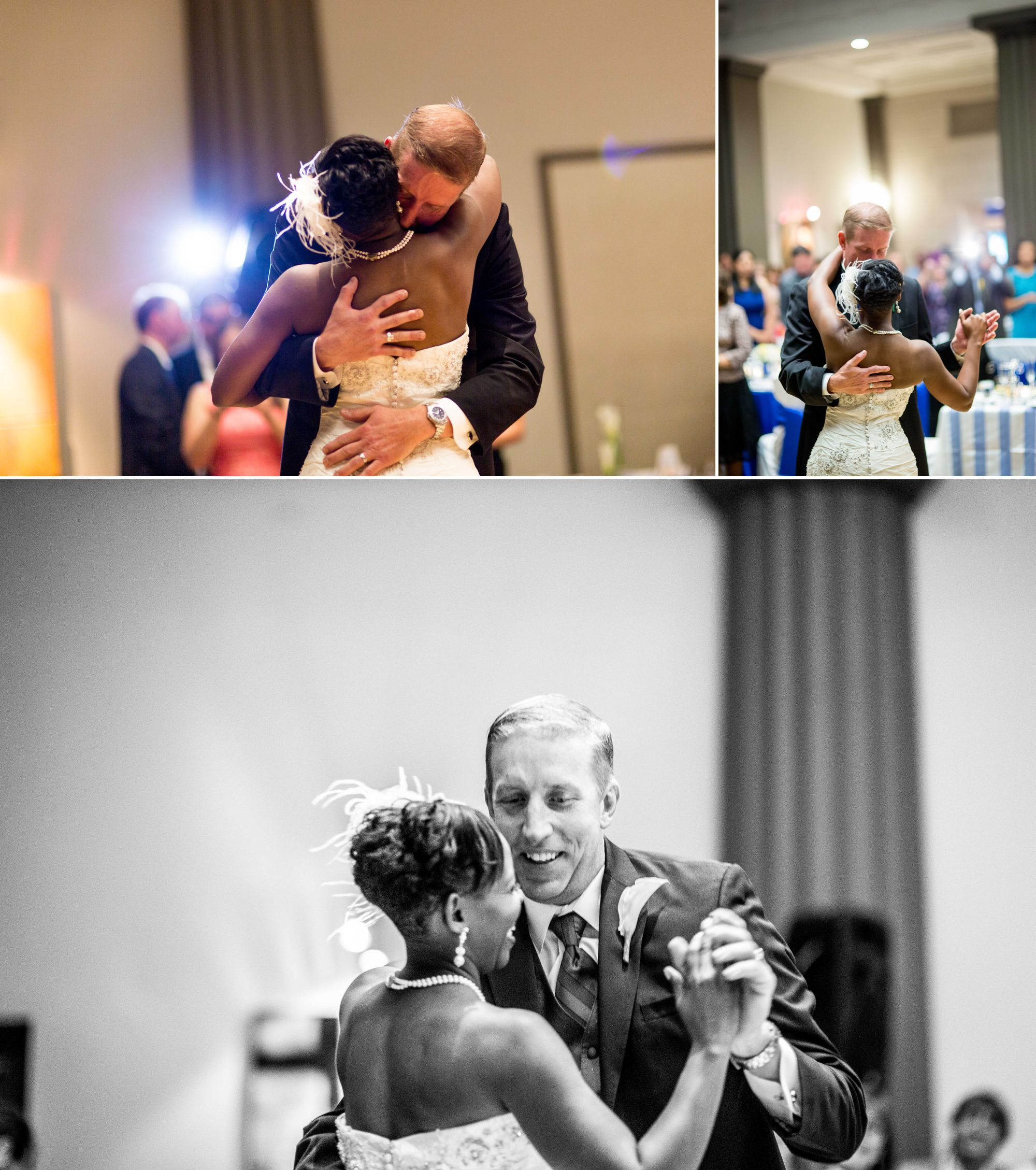 First dances are a favorite of mine, especially when a brides husband is so delicate with her!