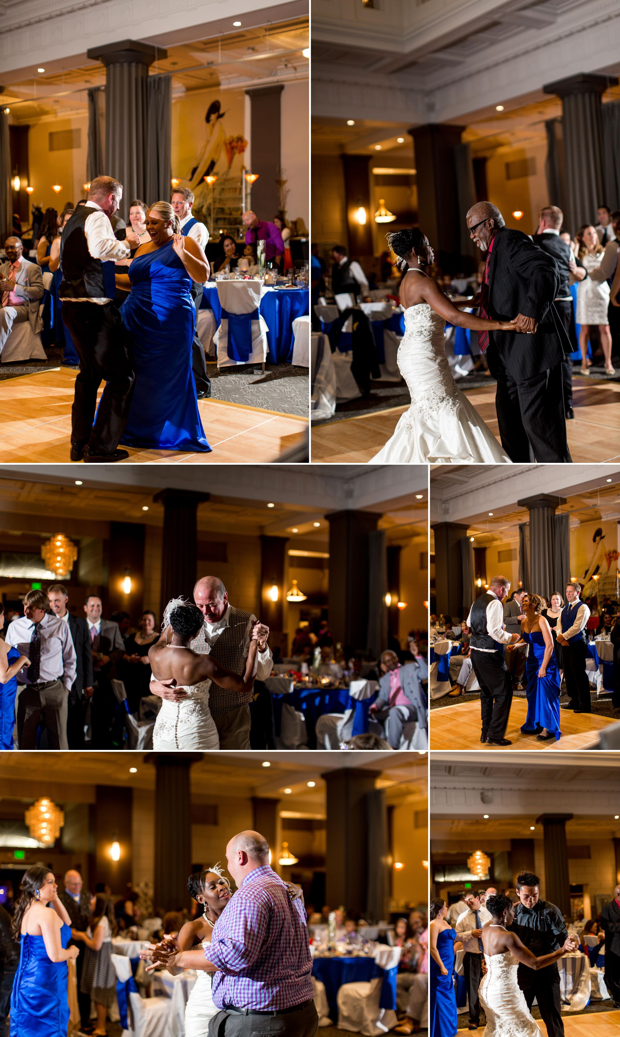 Love when the dancing begins at a reception!