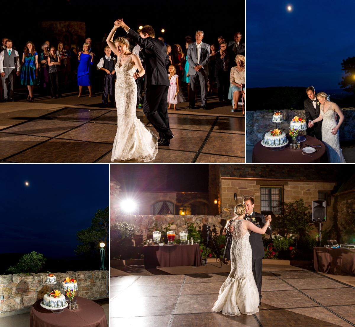 The first time we've ever had a moon over our cake cutting and dancing!