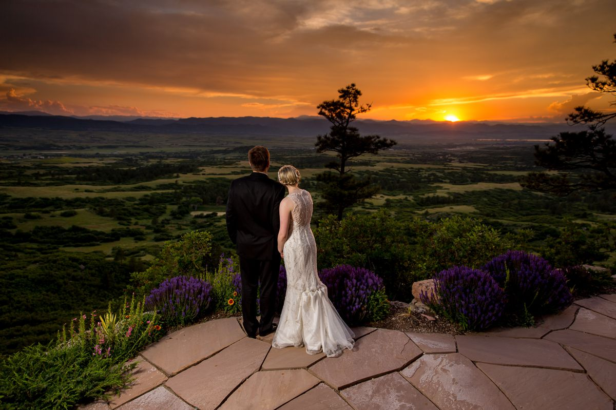 Gorgeous Colorado sunset at Cherokee Ranch & Castle by Aldabella Photography