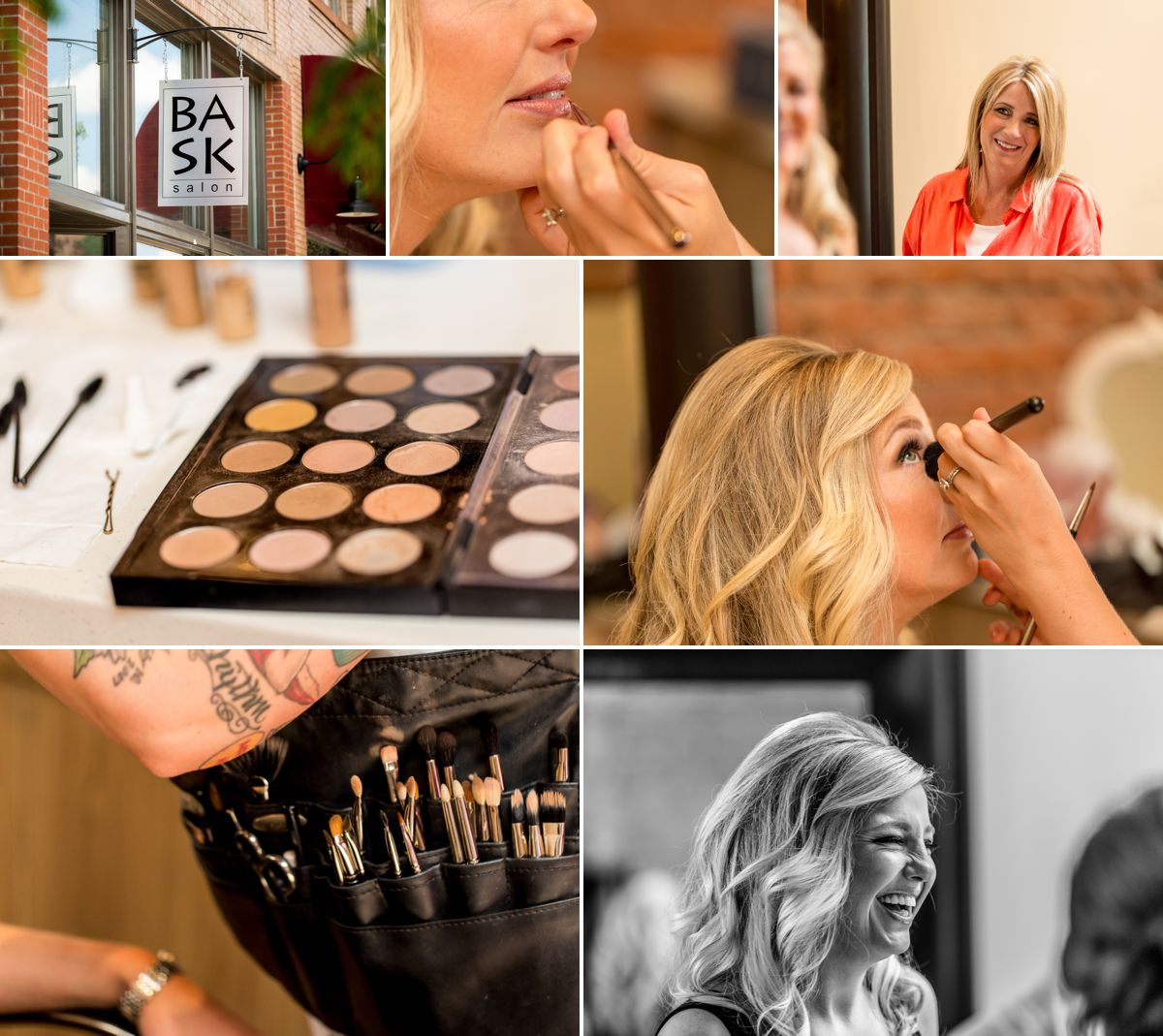 Bask Salon has incredible lighting, amazing staff and the perfect location for your girls to gethair and makeup done on your wedding day.