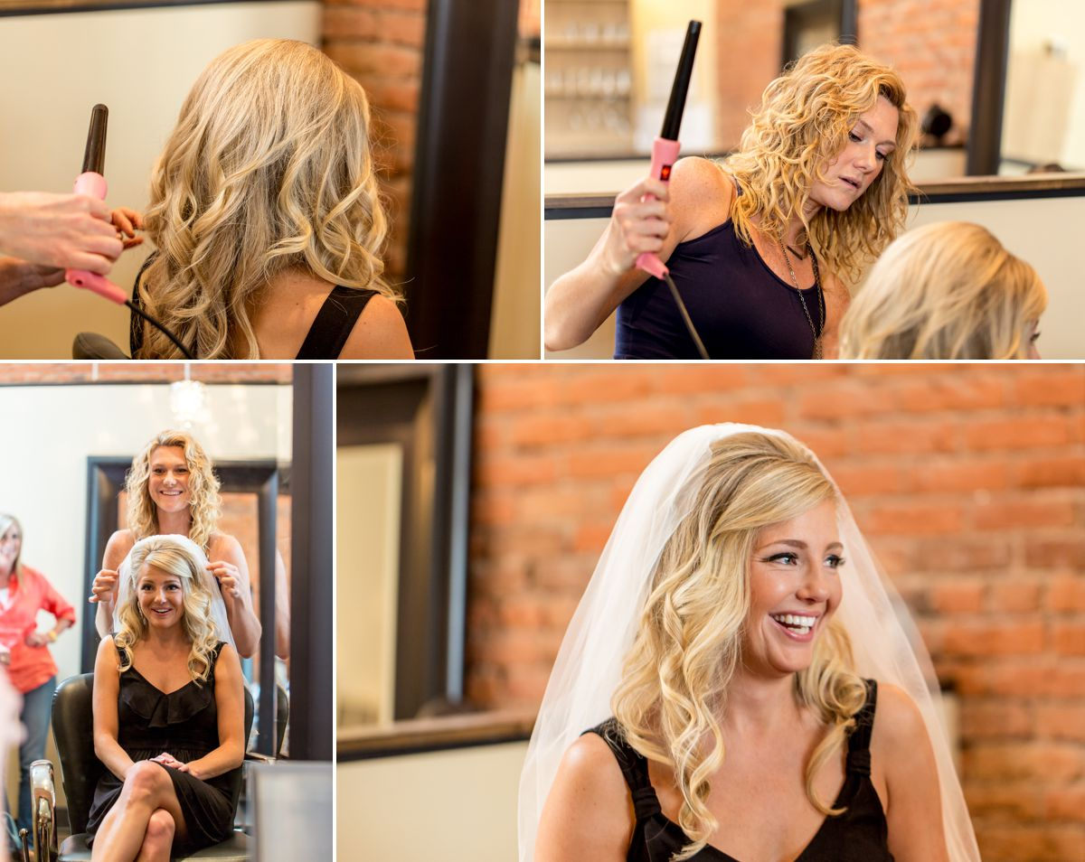 Gorgeous bride getting her final touches at Bask Salon.