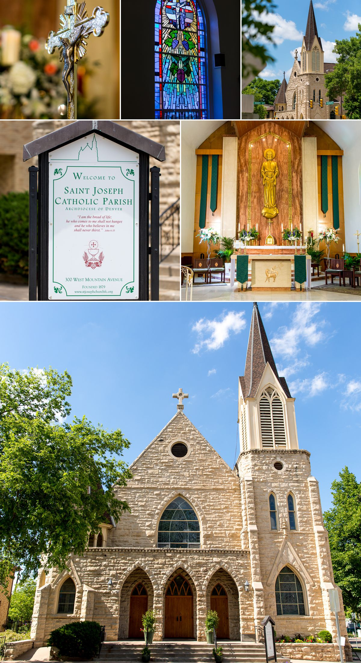 Saint Joseph's Catholic Parish in Old Town Fort Collins is an amazing location to get married!