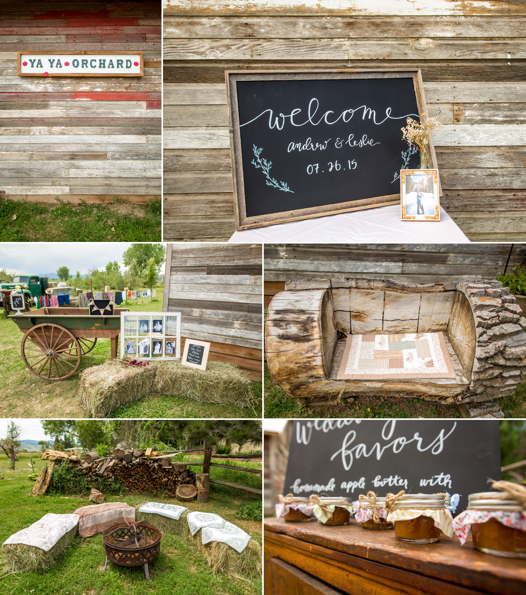 Ya Ya Farm & Orchard - Chic details, complete with hay bails andapple butter!