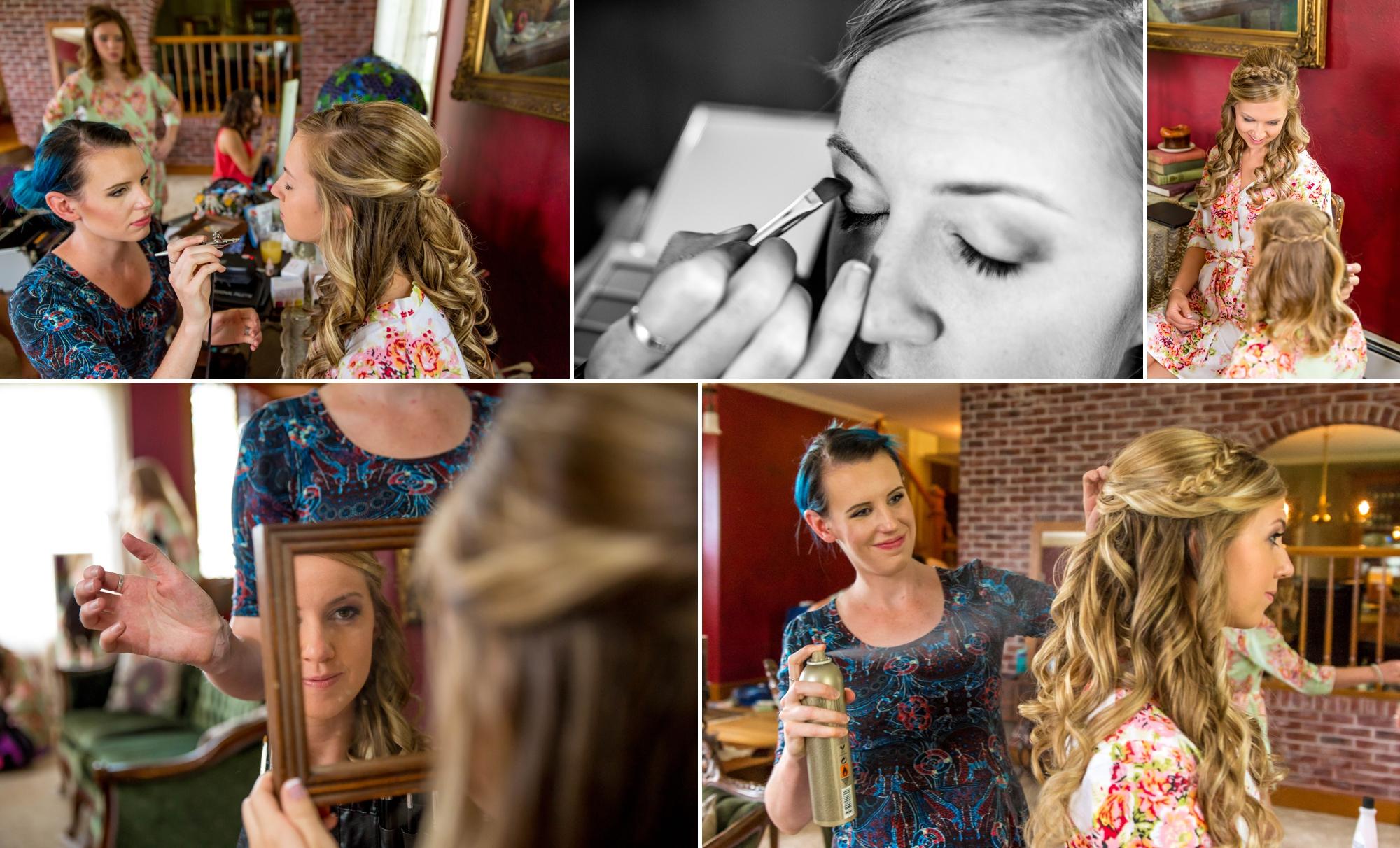Hair and makeup final touchups!!