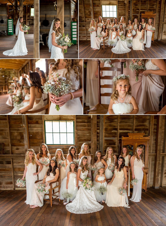 Ya Ya Farm & Orchard - bridesmaids and flower girl time!