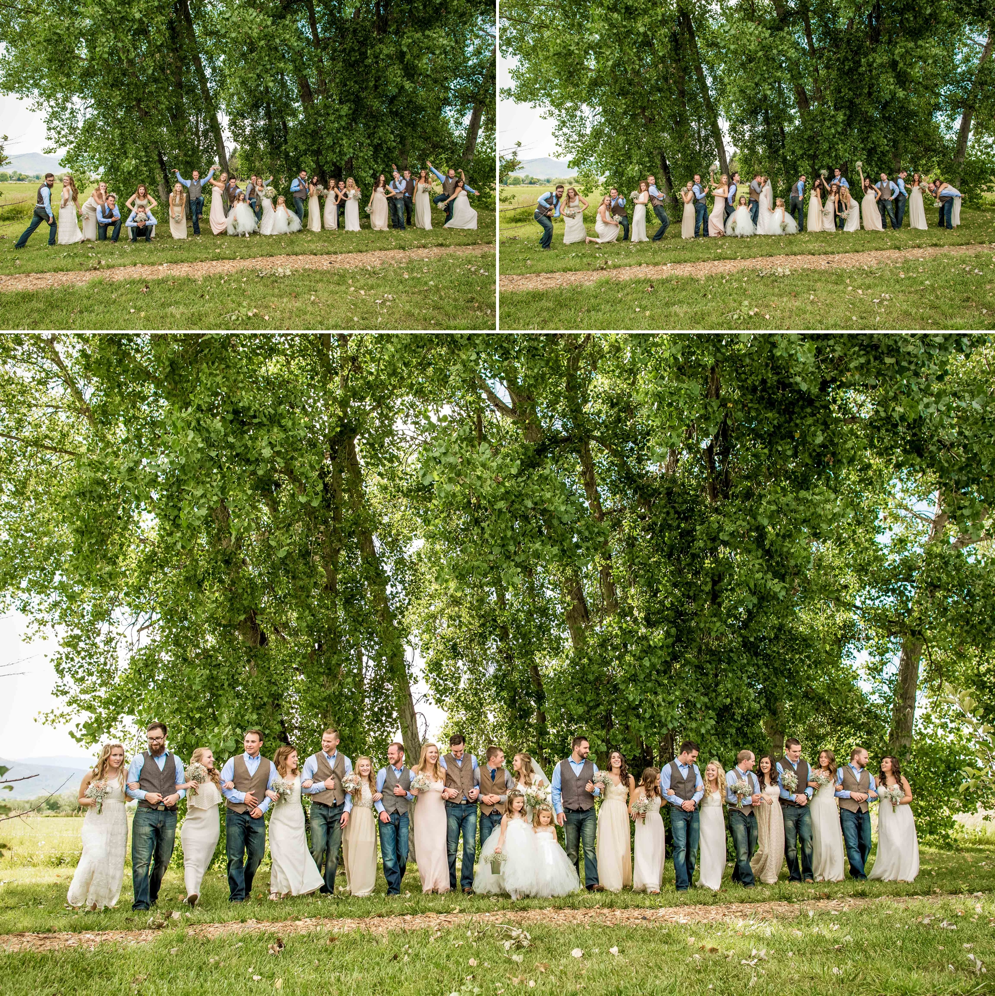You counted correctly, 25 five bridesmaids, groomsman and flower girls! Such a great group to photograph!!