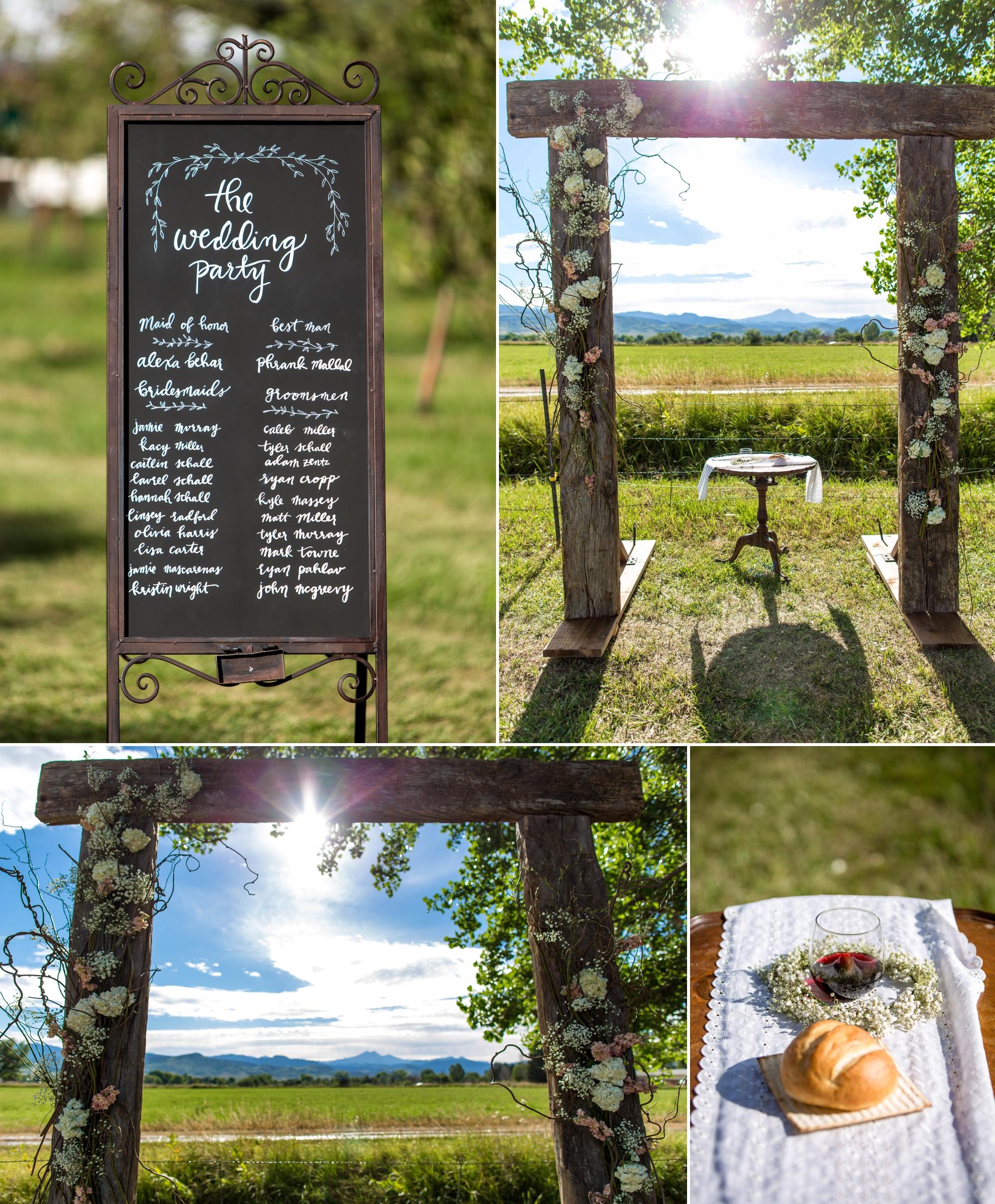 Ya Ya Farm & Orchard - Arch was handmade by the groom!