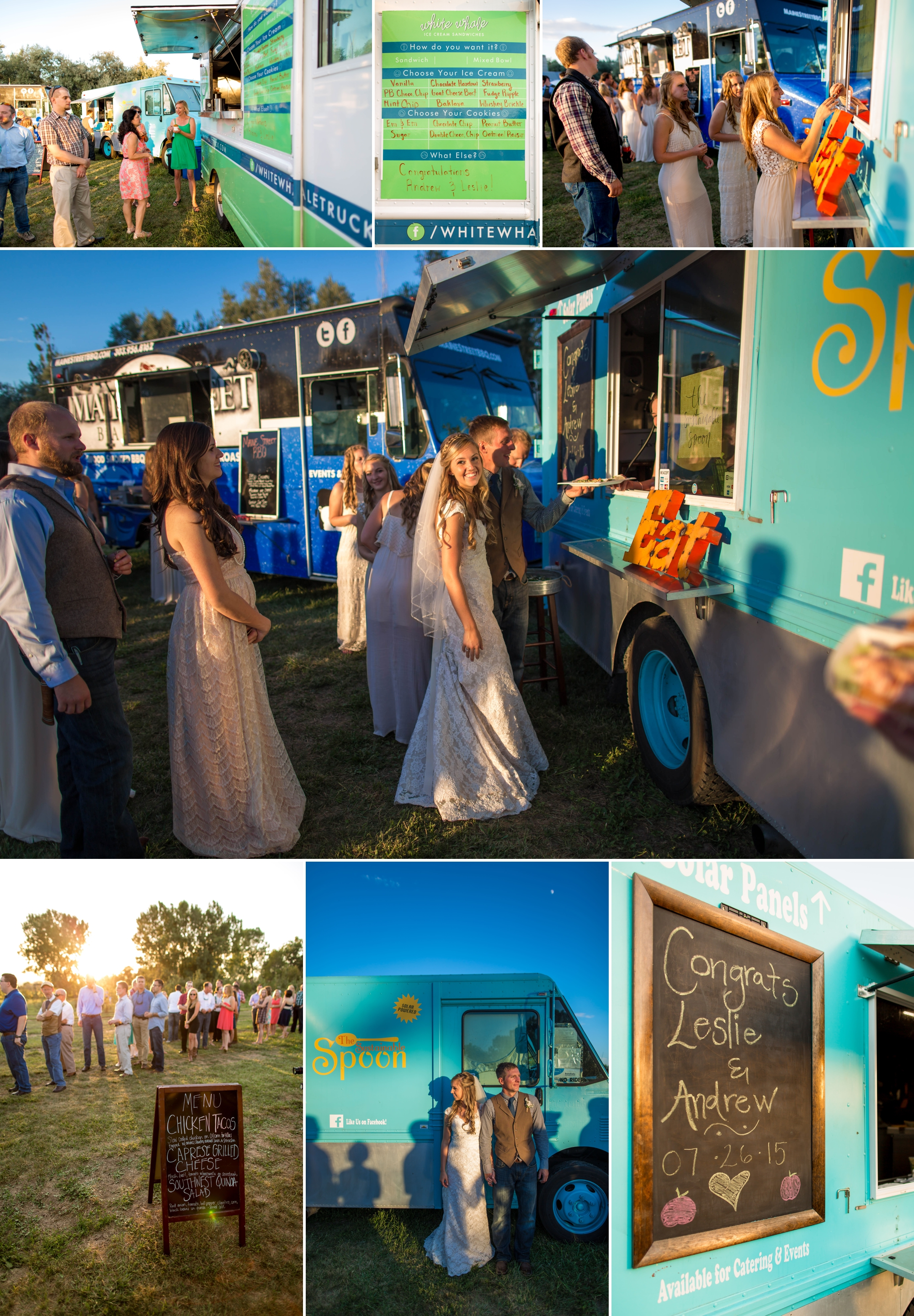LOVED that all guest were fed by these amazing food trucks!   Maine Street Barbeque Co.  , Taquier Pacifica &  The Sustainable Spoon