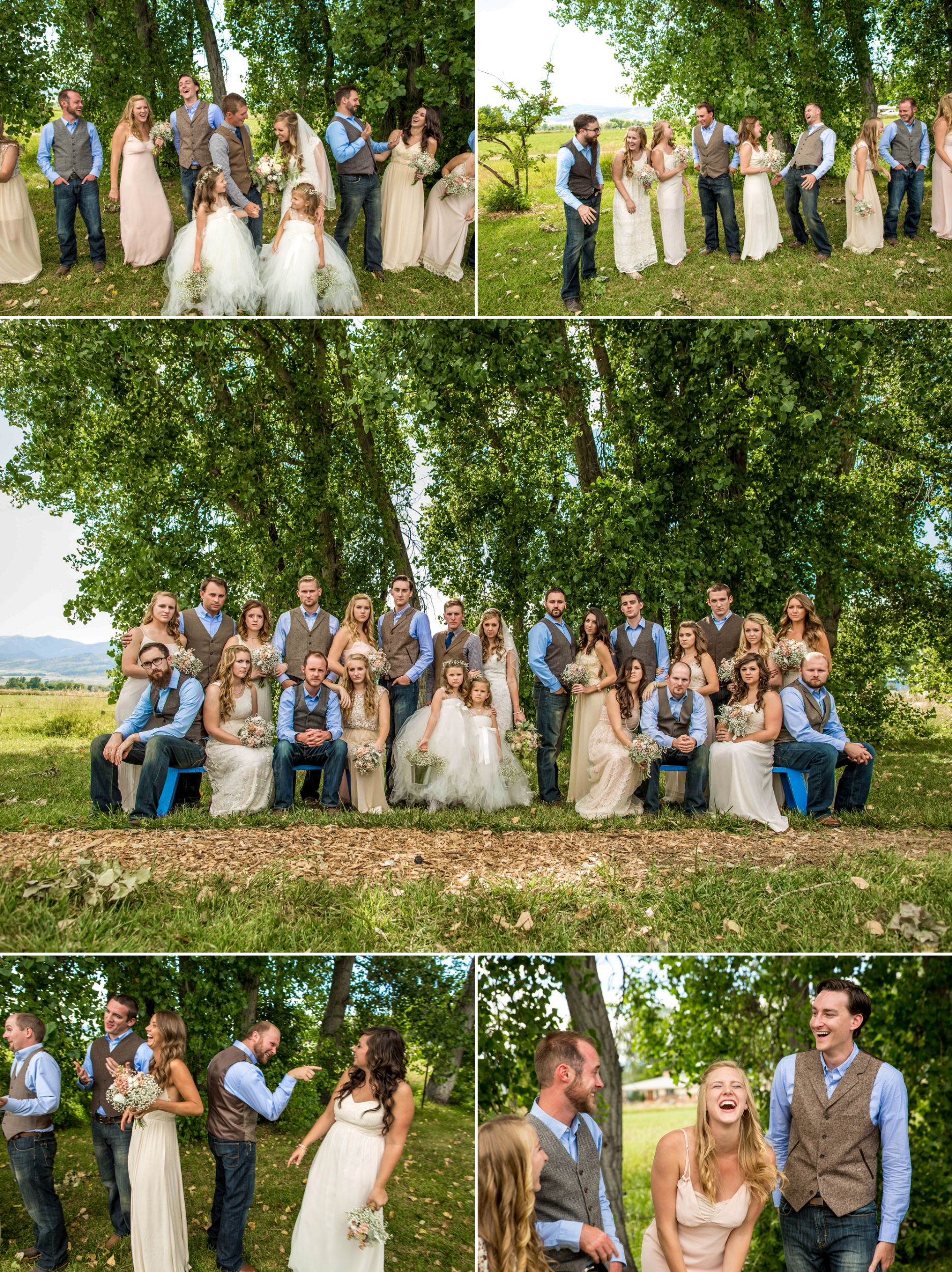 Having fun with a large wedding party!
