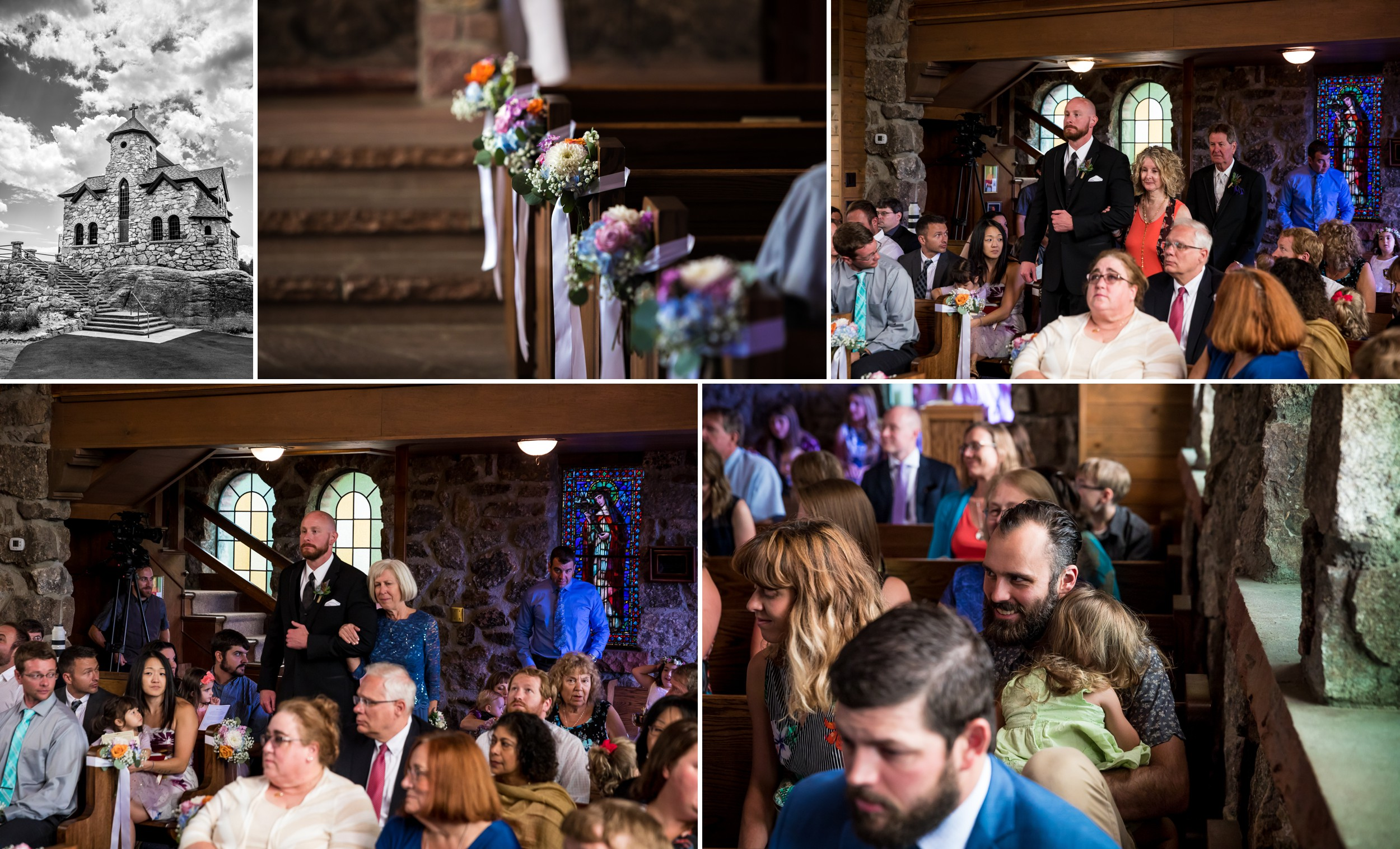 Saint Malo Church, Estes Park Wedding Photographer