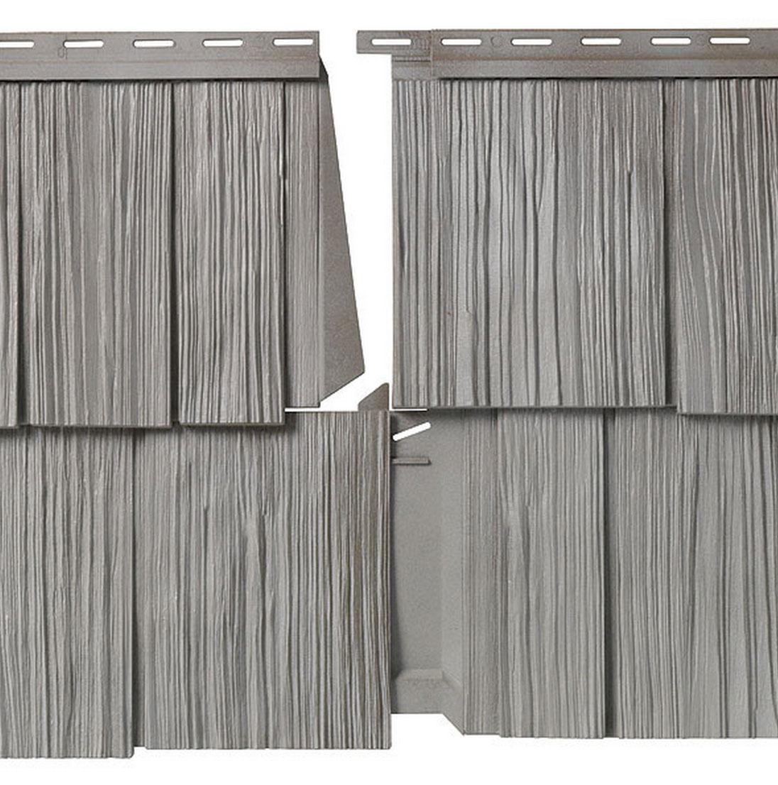 Mastic Vinyl or Polymer Lap Siding, Gray