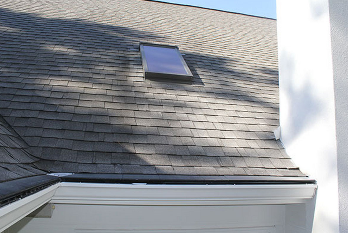 Gutter Guard on shingled roof