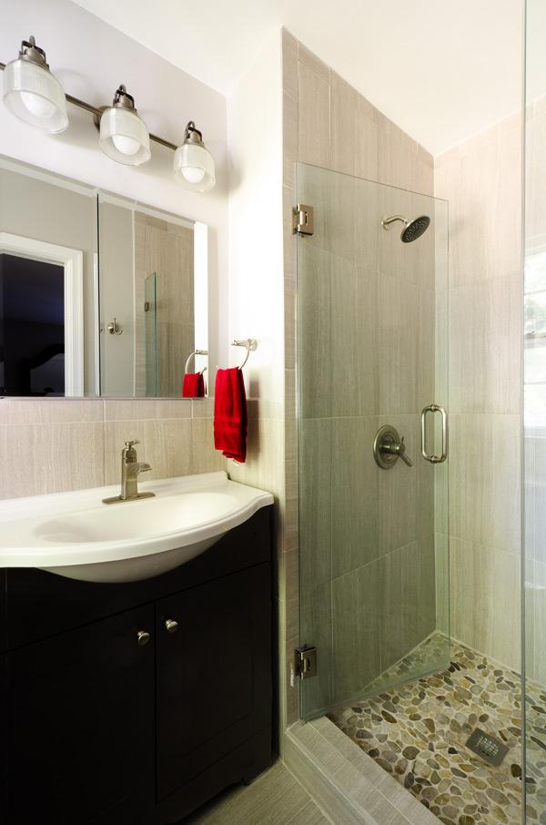 Shower and vanity installation