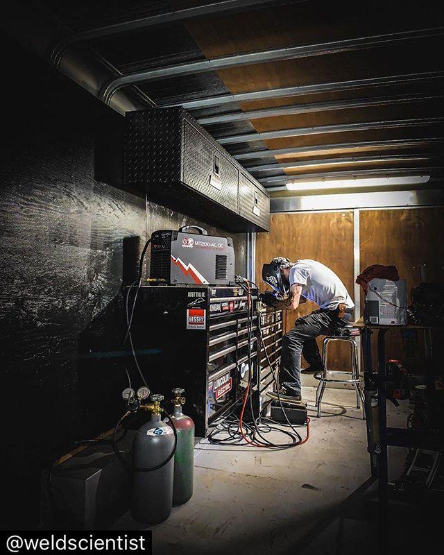 #repost |Laying some stainless welds down in the mobile lab| Resist⋆Complacency Ω #WeldScience #WeldPorn #iLoveWelding #Science #Scientist #WeldLife #Welder #Welding #Fabricator #SaveTheTrades #CentralWeldingSupply #TorchWear #Speedglas #Flexaprene