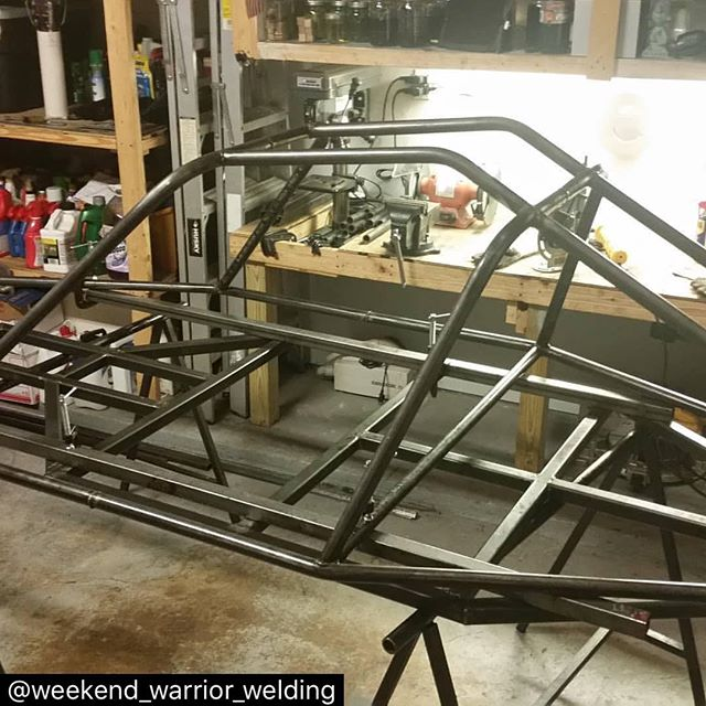 Hey @weekend_warrior_welding keep us updated! Can't wait to see how this baby turns out!! #repost  #dunebuggy #homemade #buggy #buggylife #diy #welding #bending #weekendwarrior