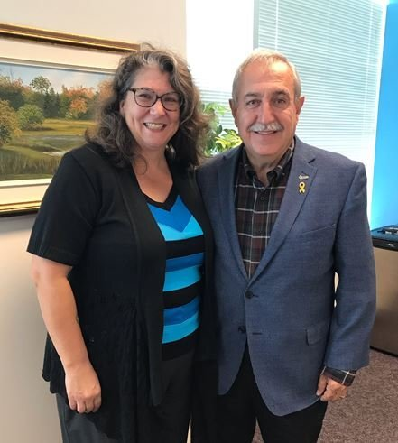 SEPT. 24, 2019: Meeting with Michelle Hurtubise, the new Executive Director of Western Ottawa Community Resource Centre