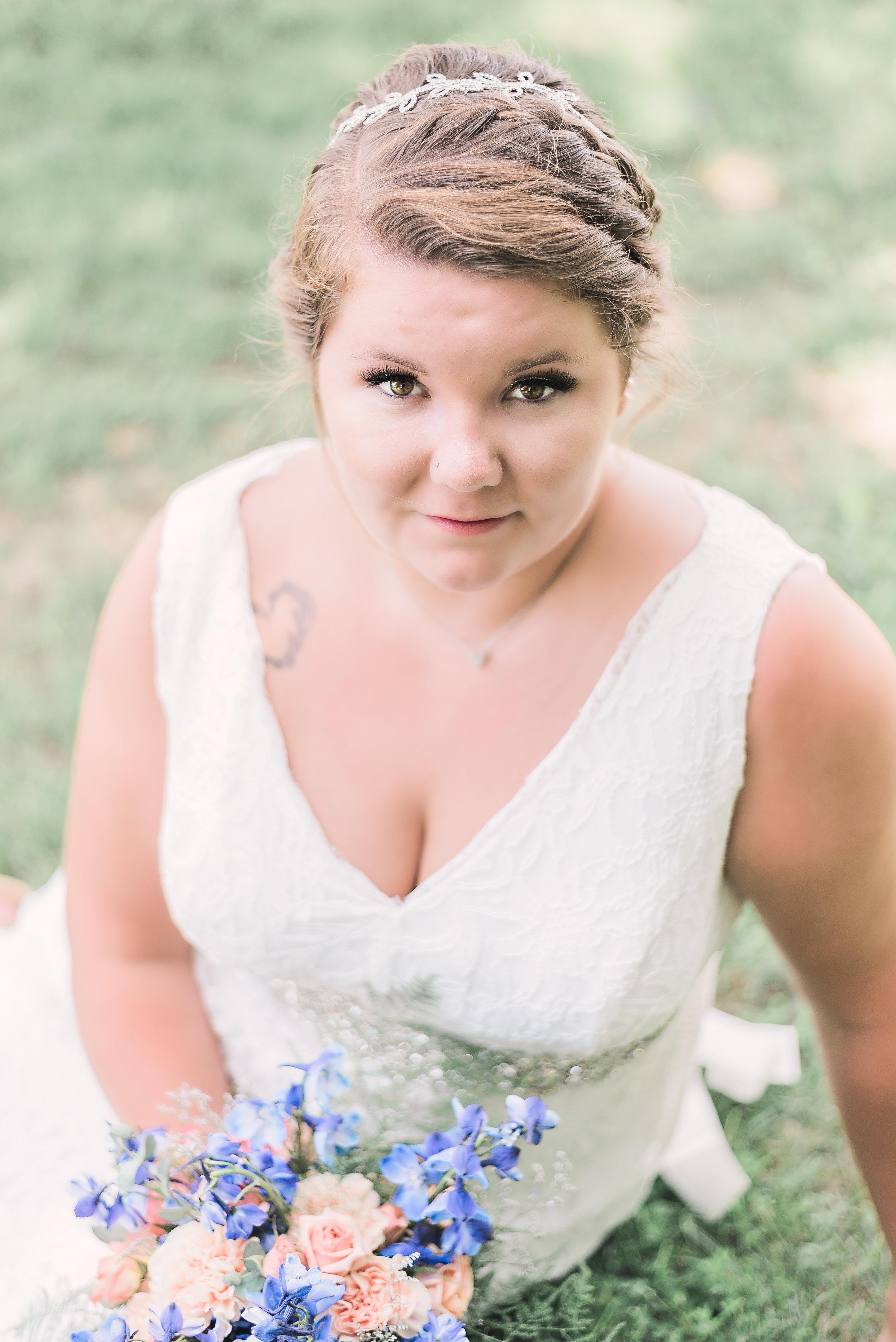 bridal portrait sitting down