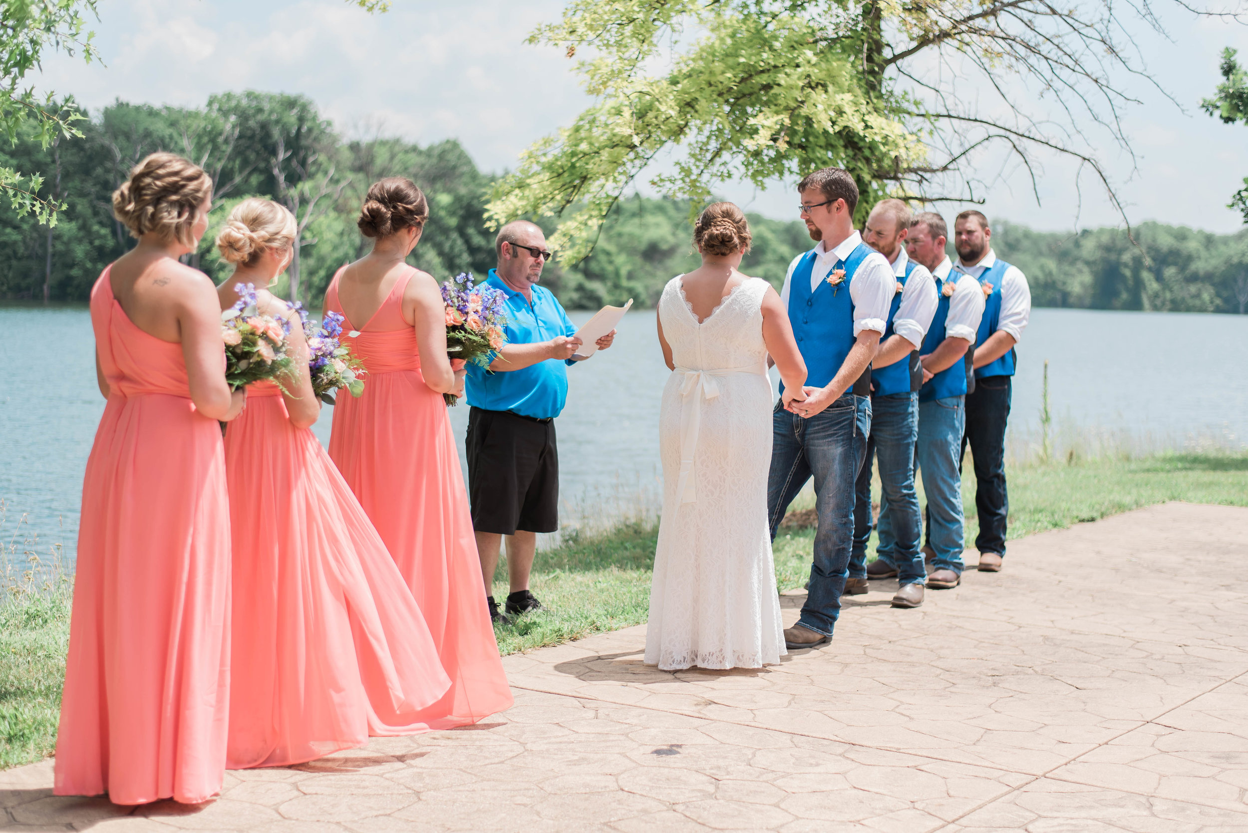 outdoor ceremony at lake