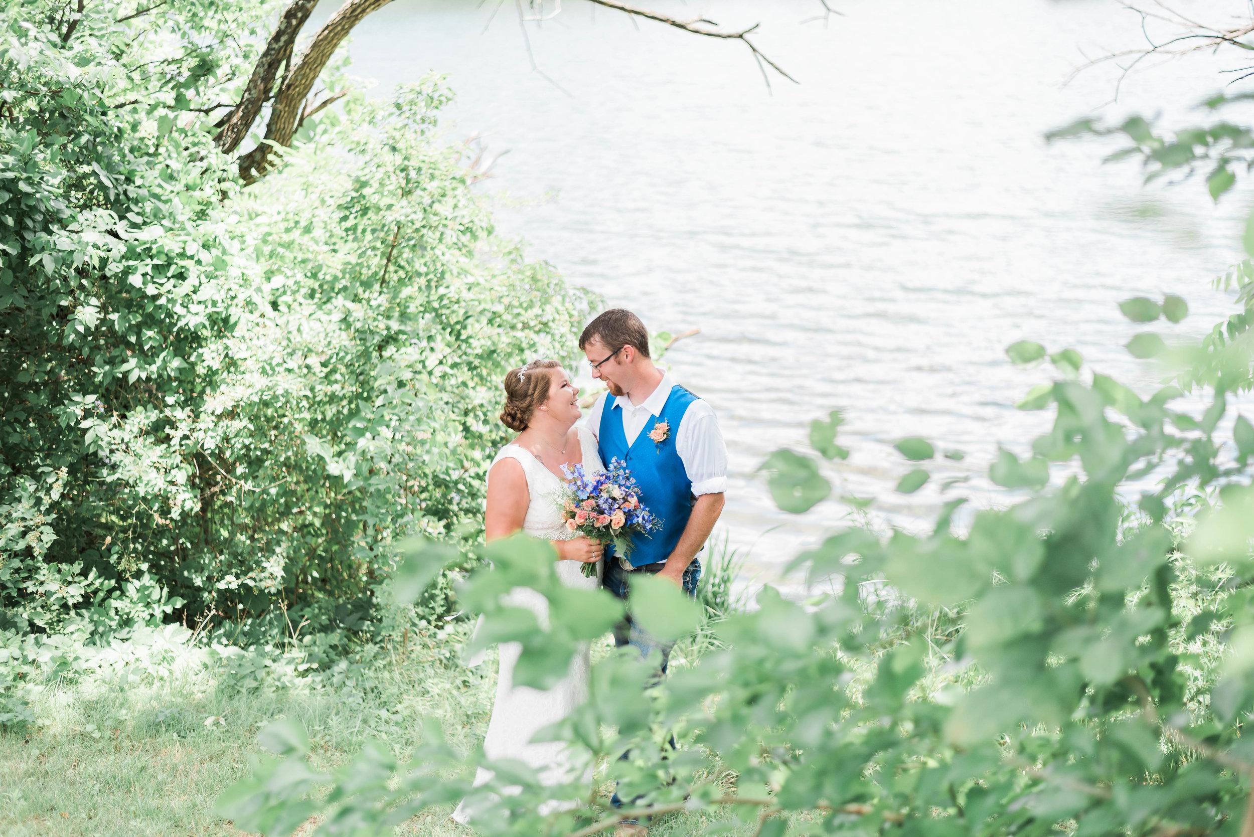 bride and groom romantic gaze