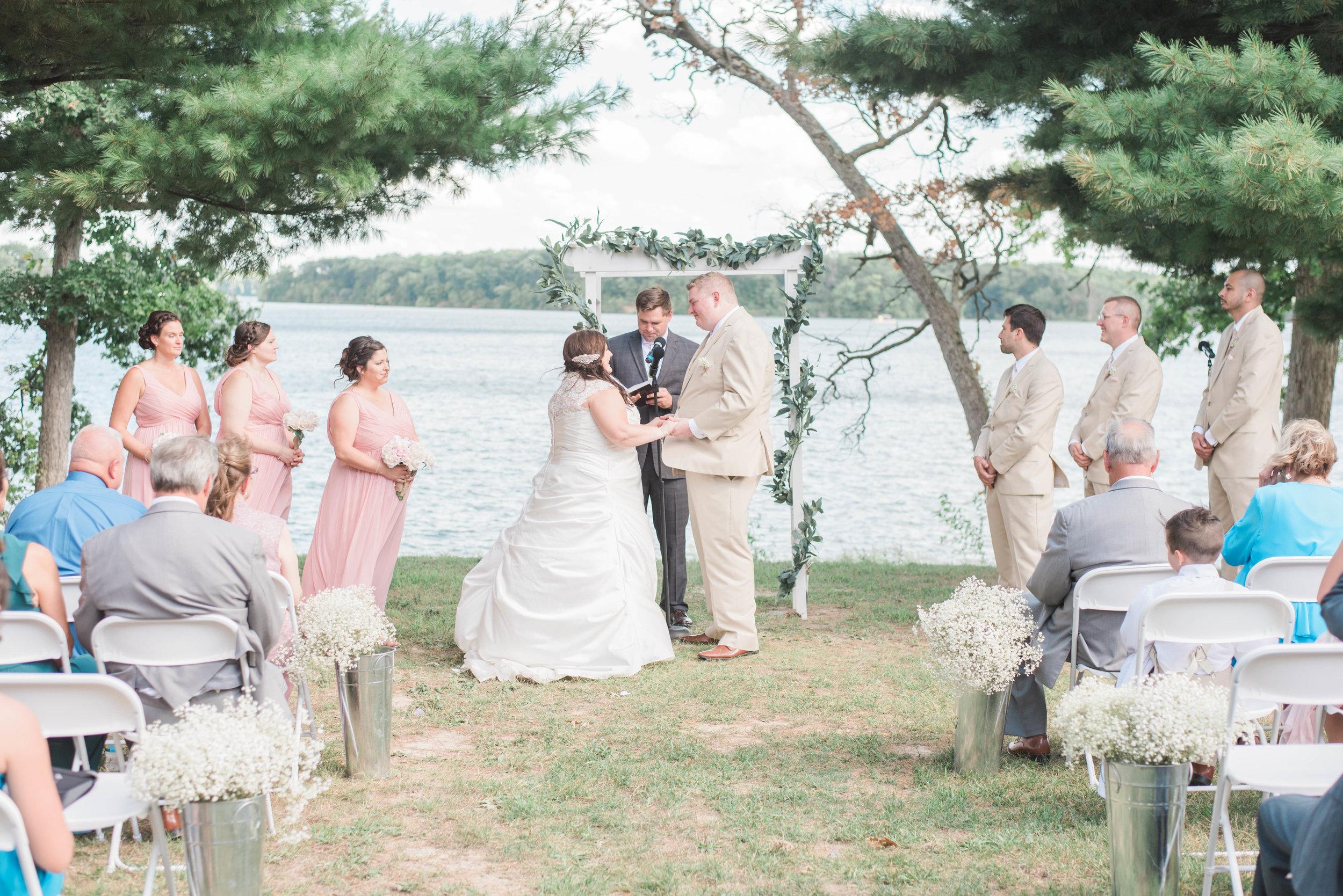 wedding ceremony shot
