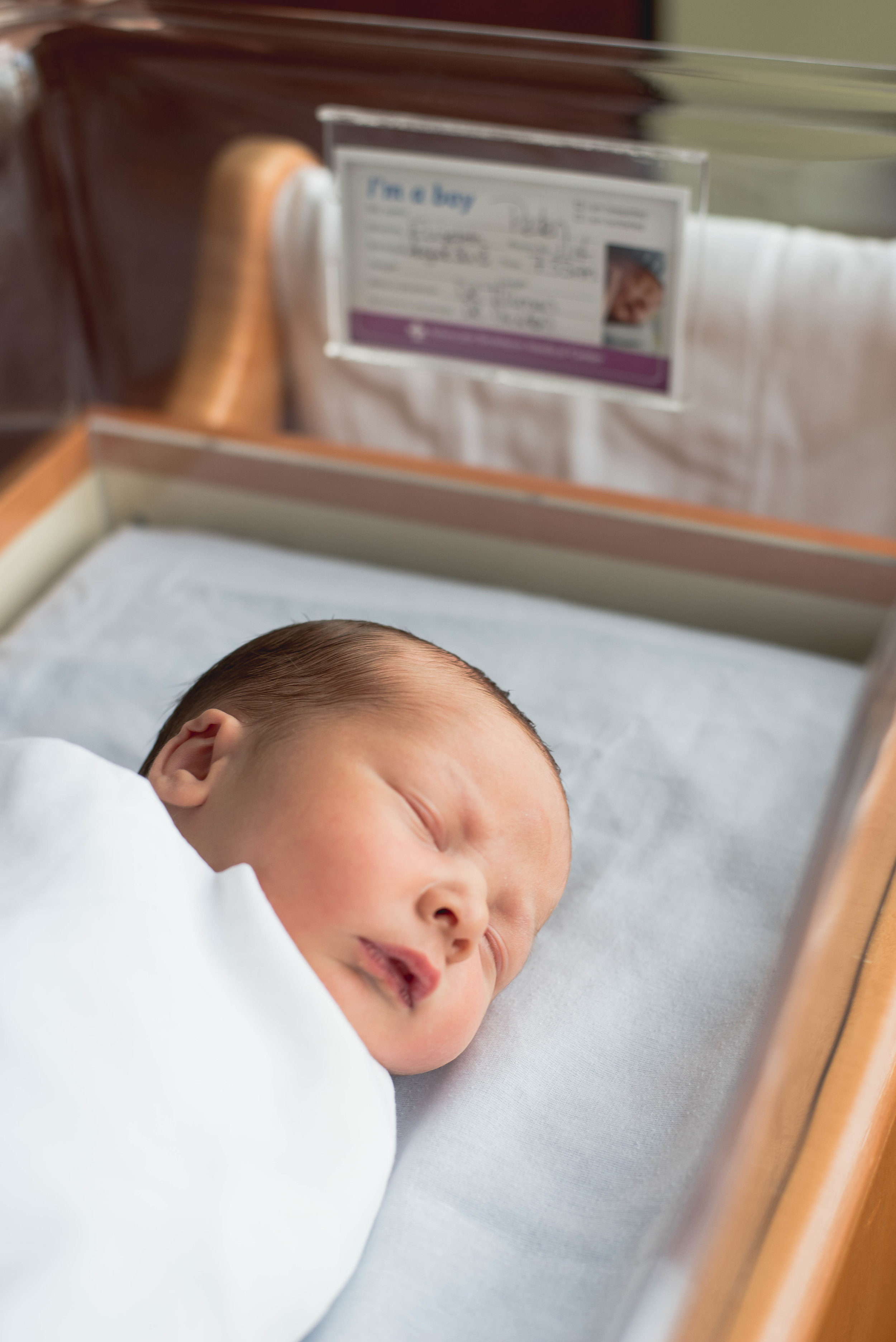 baby in basinet angle
