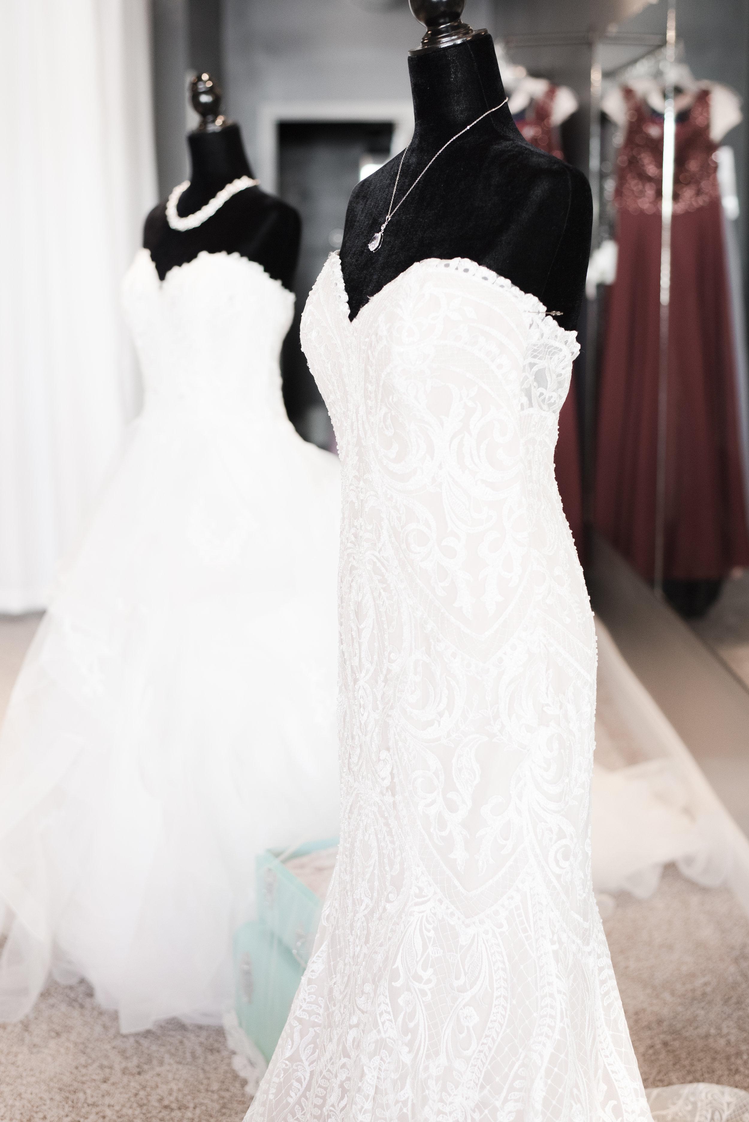 wedding dress mannequins