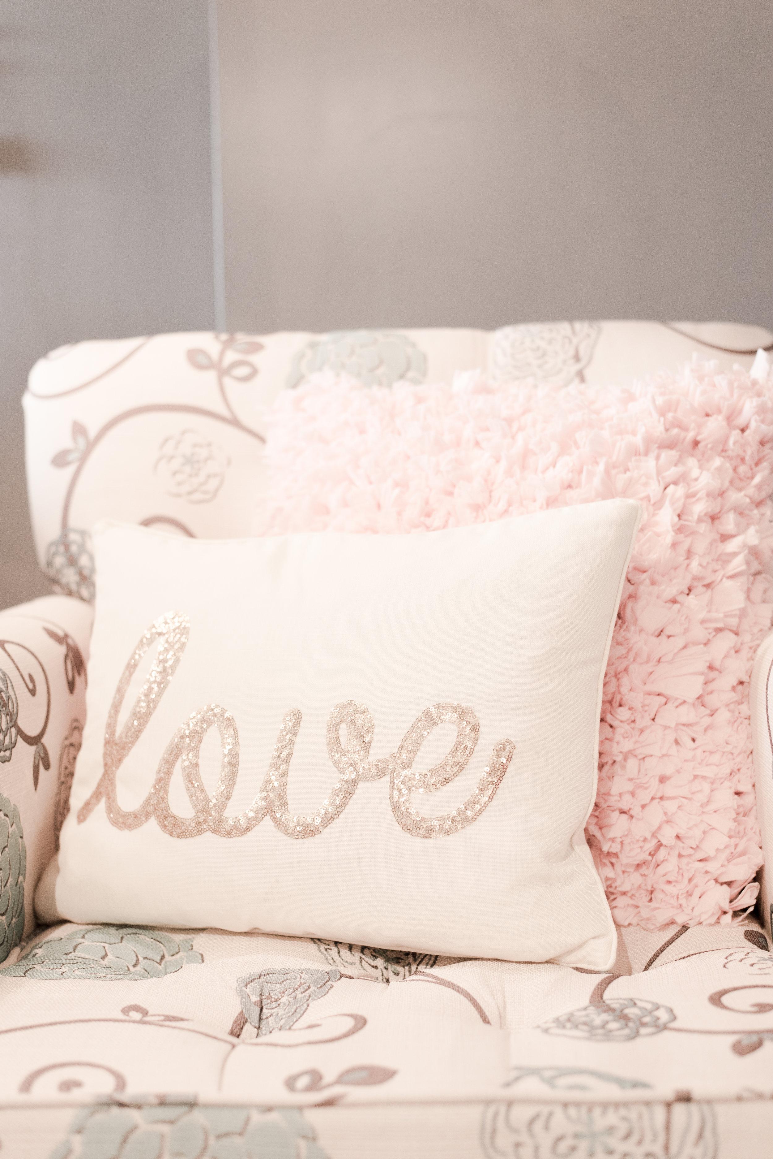 throw pillow detail