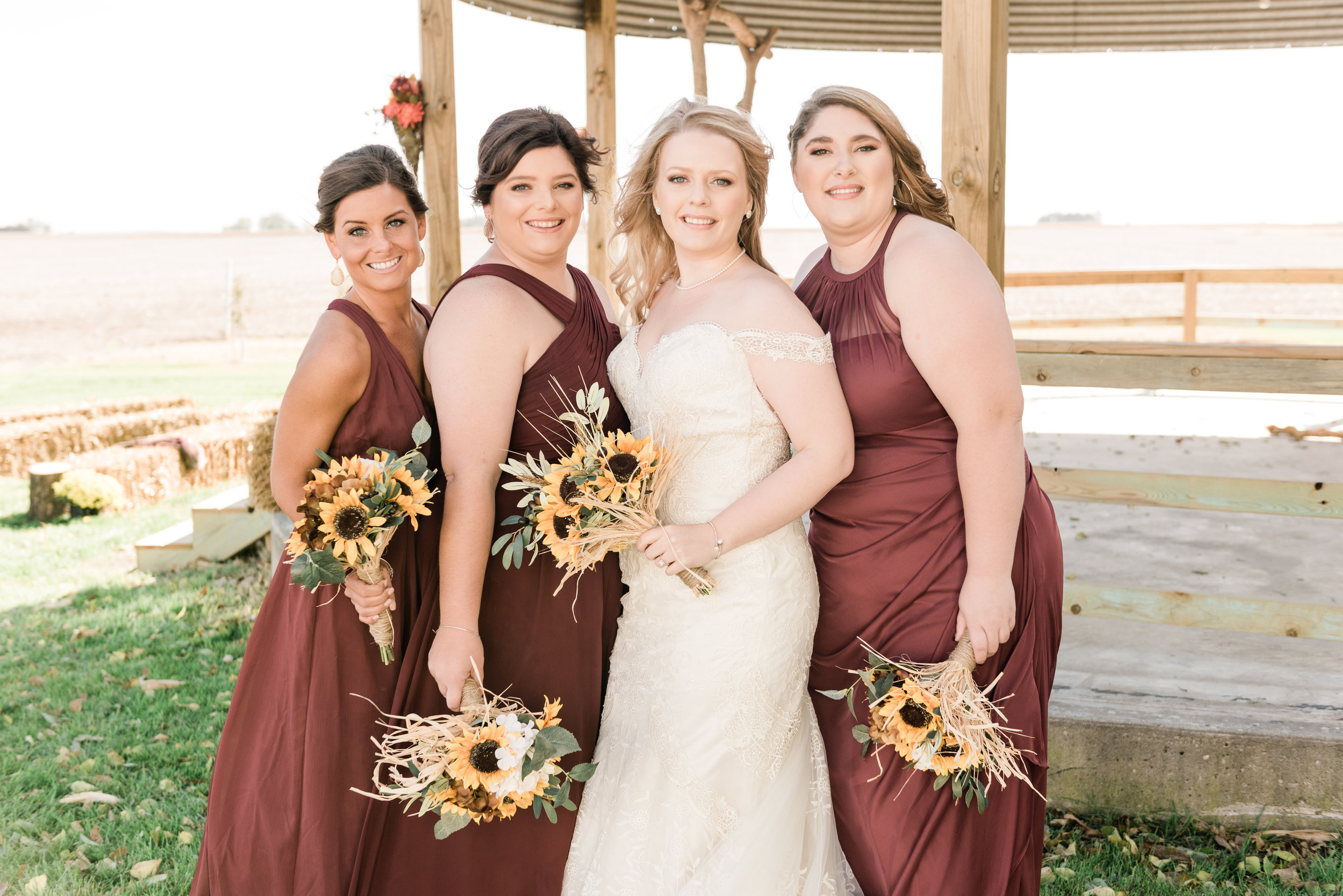 bridesmaids with the bride 1