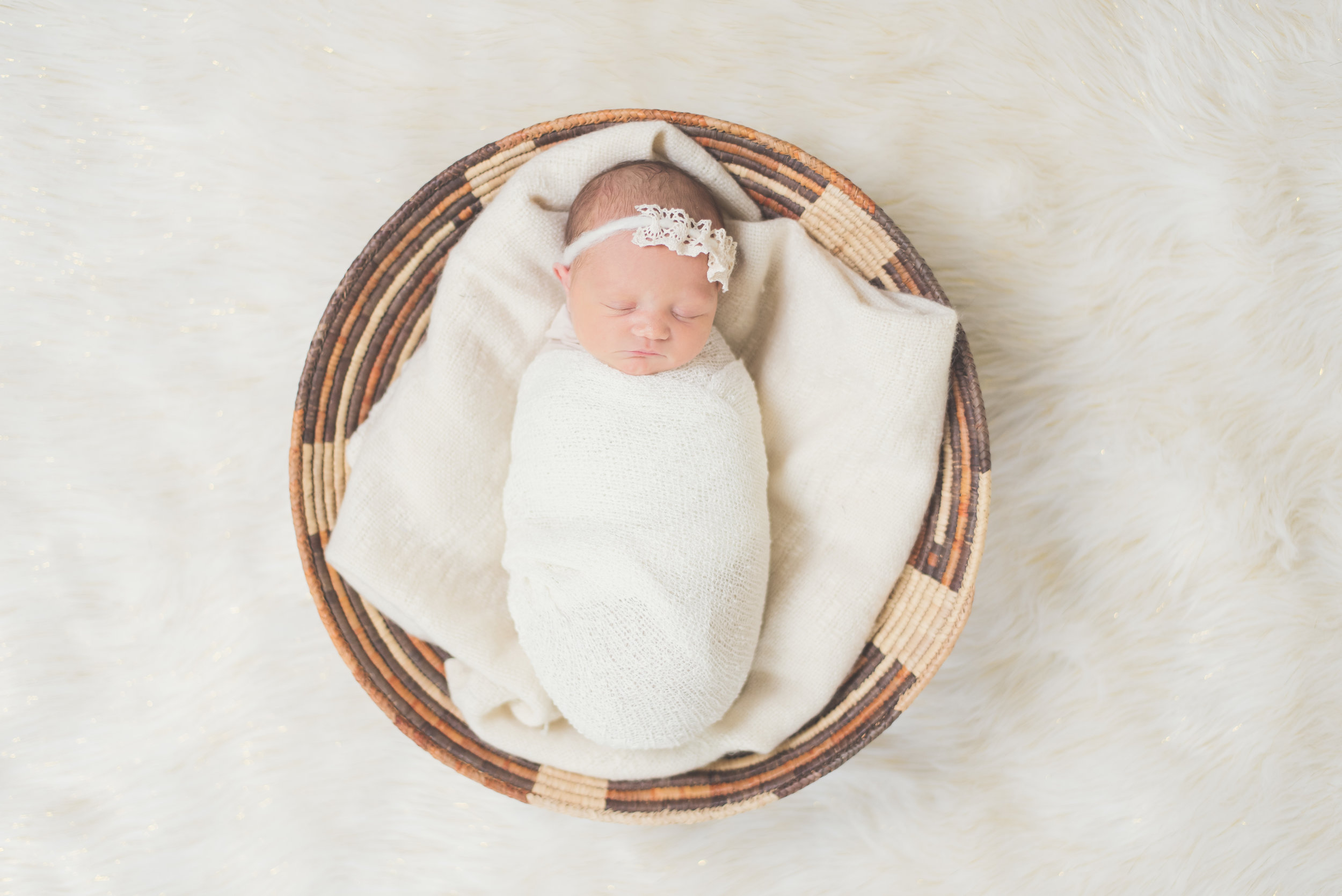 photos by Ariel- newborn in basket from above