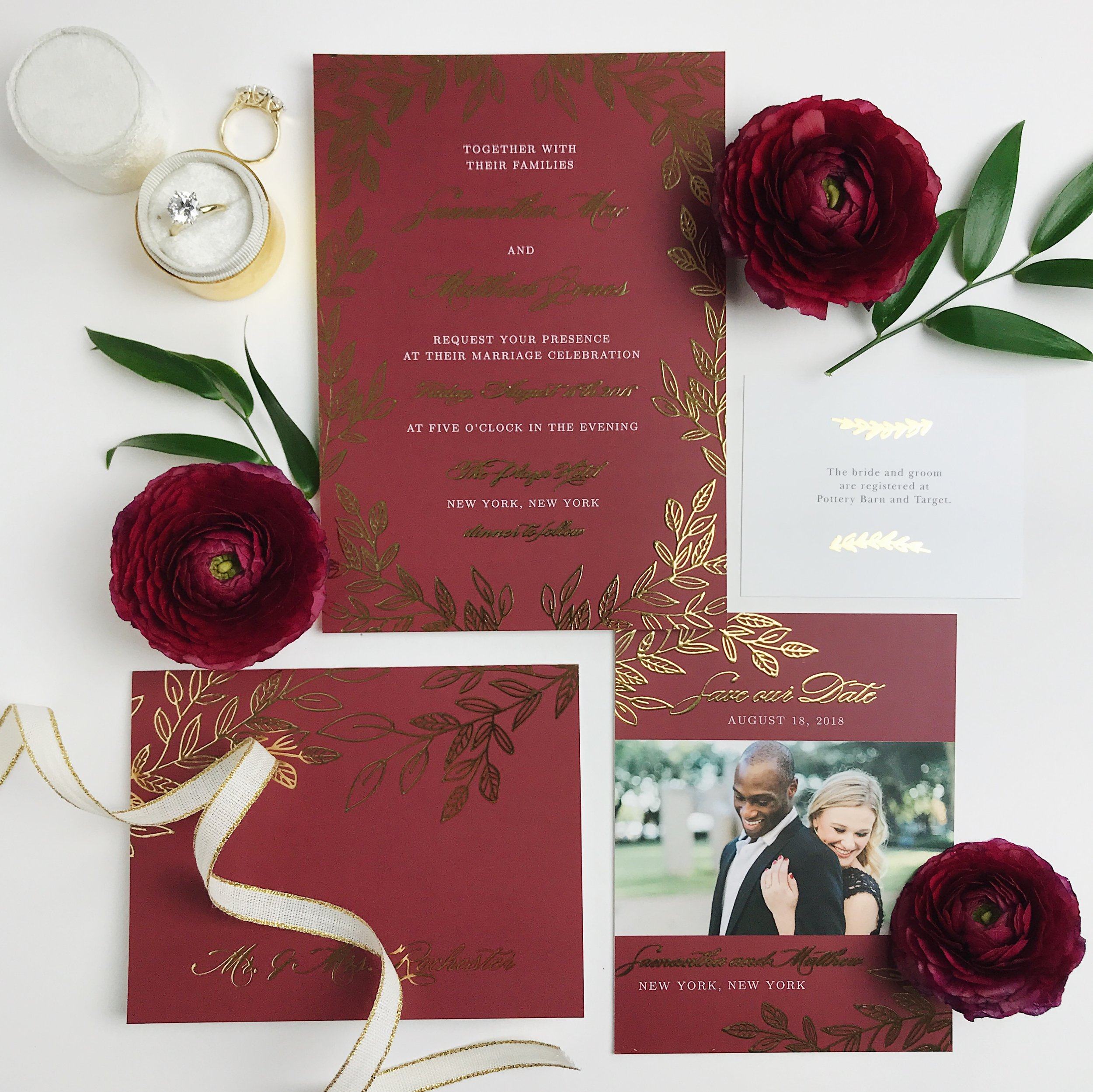 basic invite wedding invitation 2