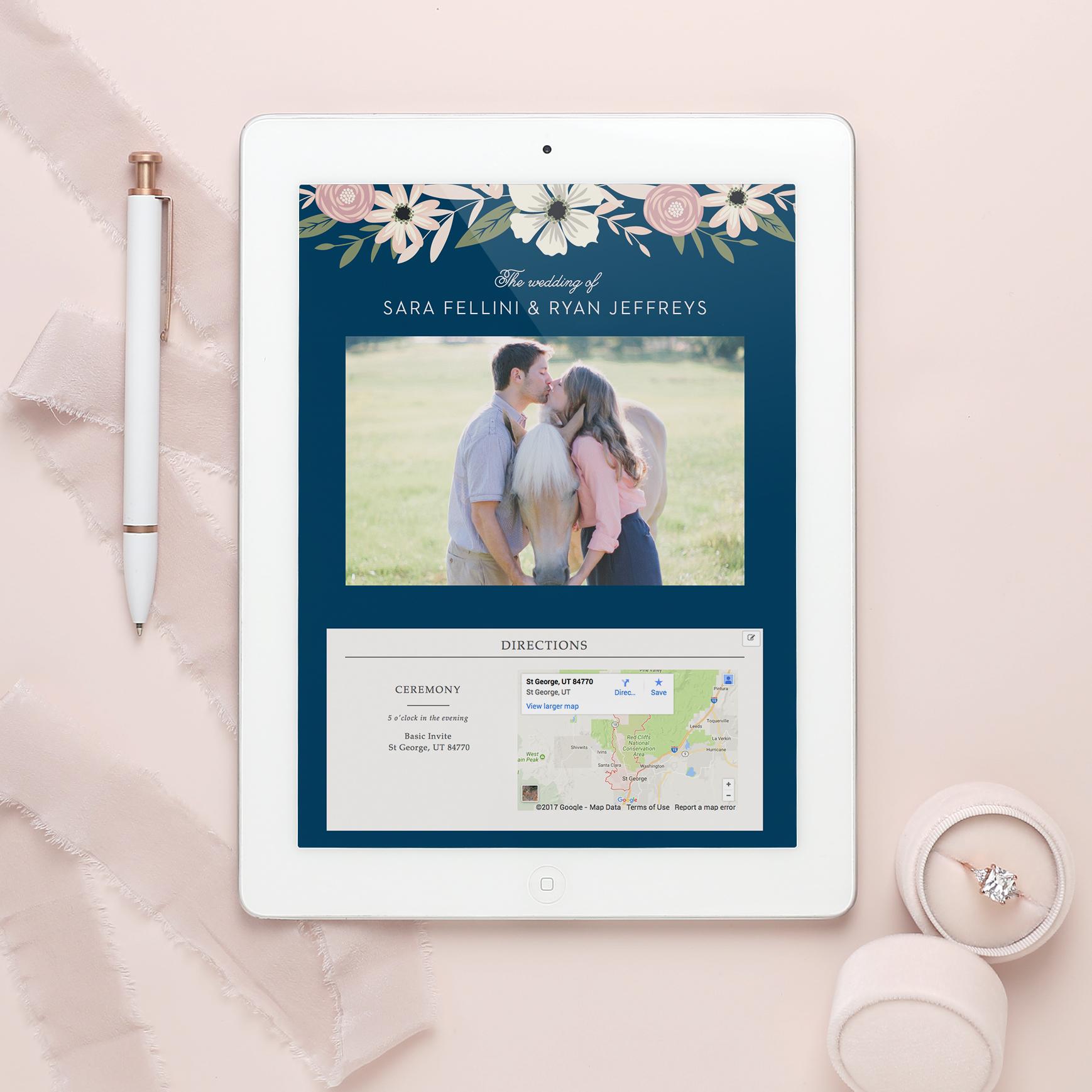 Basic invite wedding website 1
