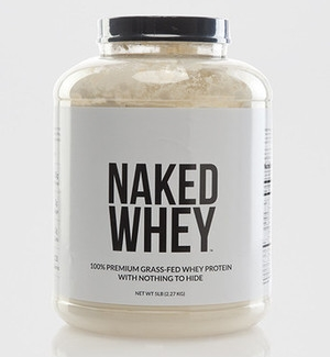 It took me years to find this protein powder, as everything at GNC was loaded with toxic ingredients and artificial this or that.   Naked Whey   contains only 1 ingredient:  whey exclusively from pasture-fed cows's milk sourced from small California dairy farms.  It contains a whopping 25 g of protein, 5.9 g of BCAAs per serving, and is cold processed, using acid and bleach free processing. Most importantly, it has no artificial flavors, colors or sweeteners.  Can you say that about YOUR protein?  Best of all, it makes everything taste like a delicious milkshake and the bulk container price makes it cheaper per ounce than its most other chemical-laden competitors.