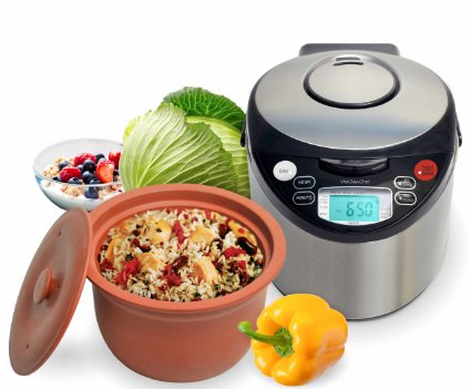 VitaClay 8 cup Smart Organic Multi-Cooker/Rice Cooker