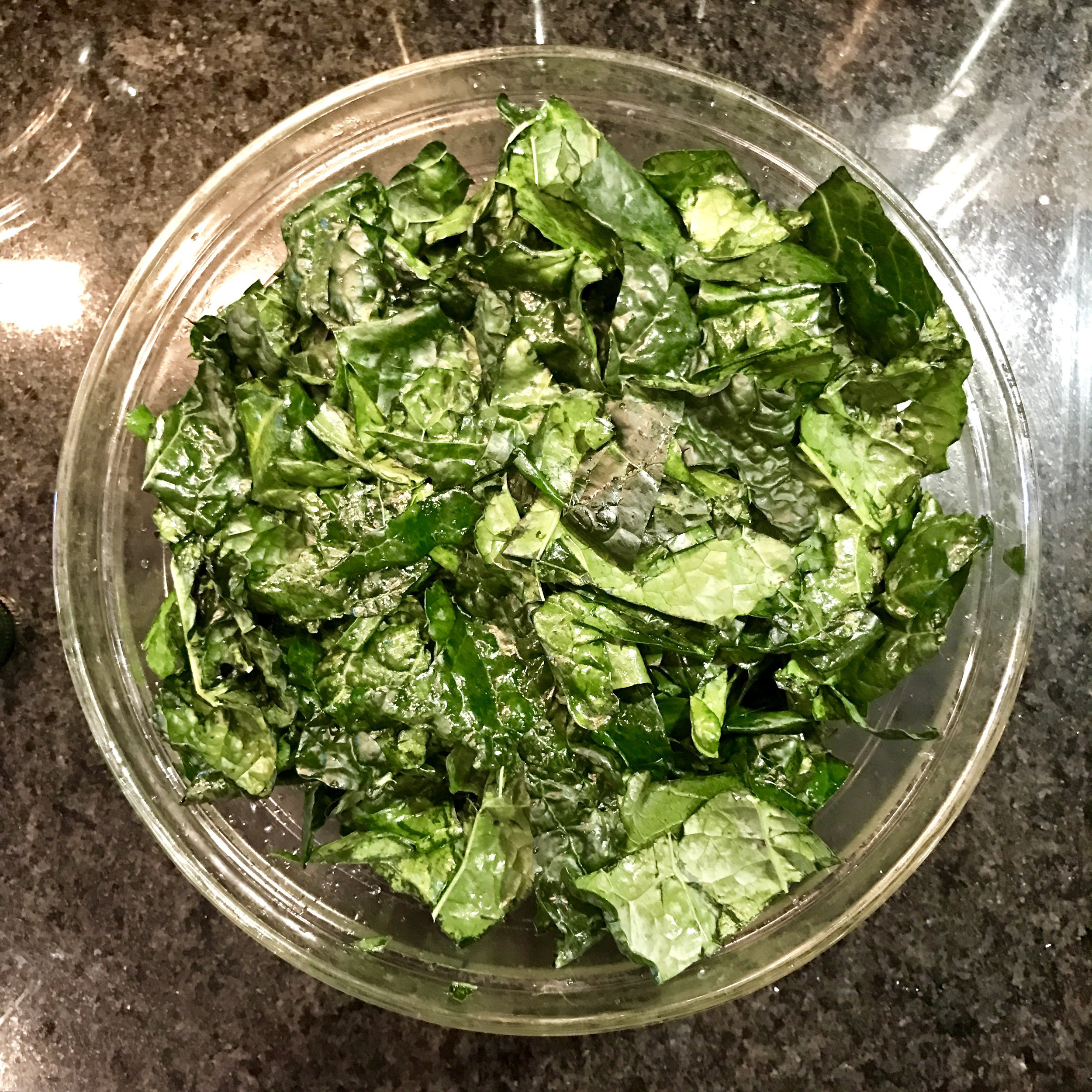 tenderized kale - sunny side kale goodness - www.newtritionny.com