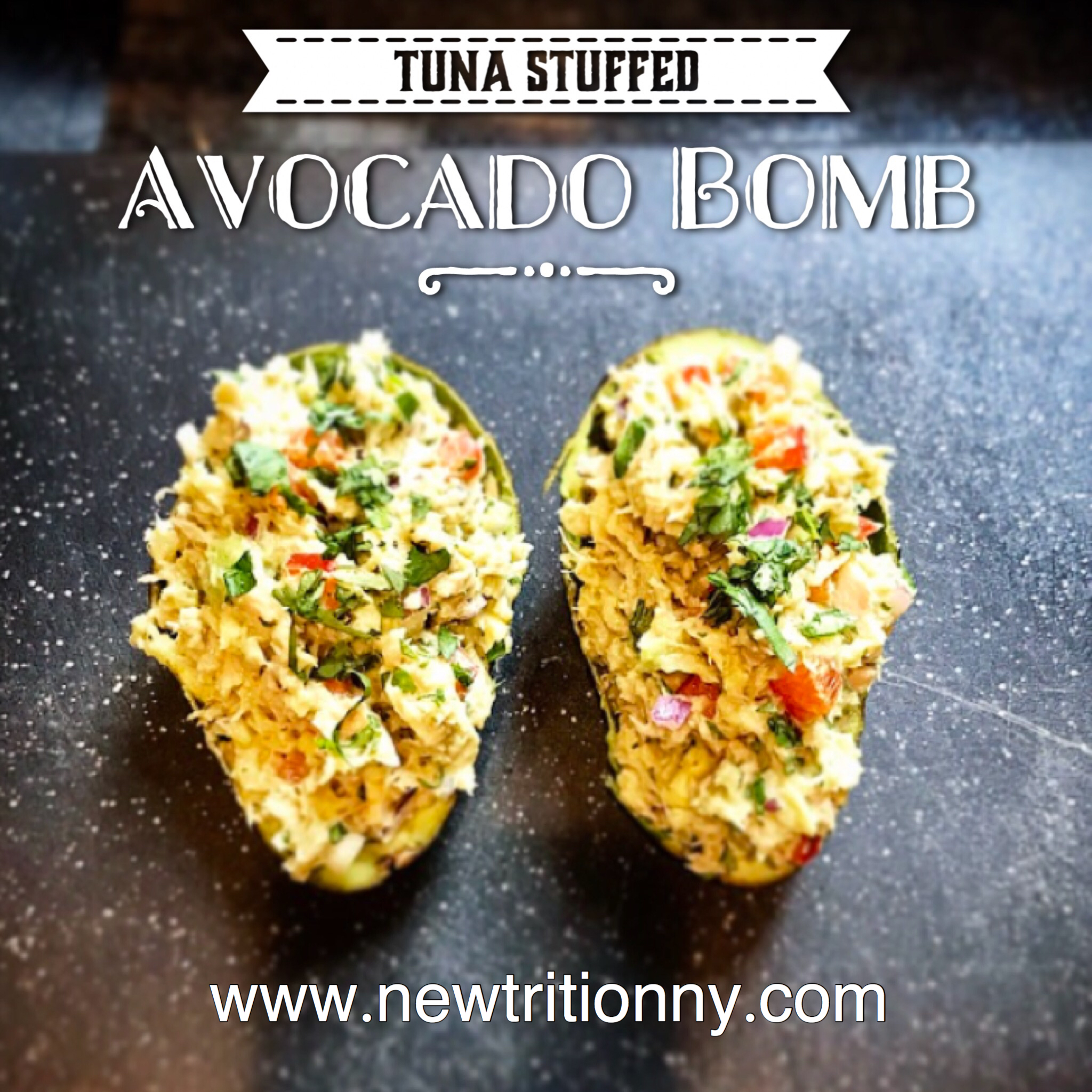 Tuna stuffed avocado bomb recipe - newtritionny.comnewtrition new you