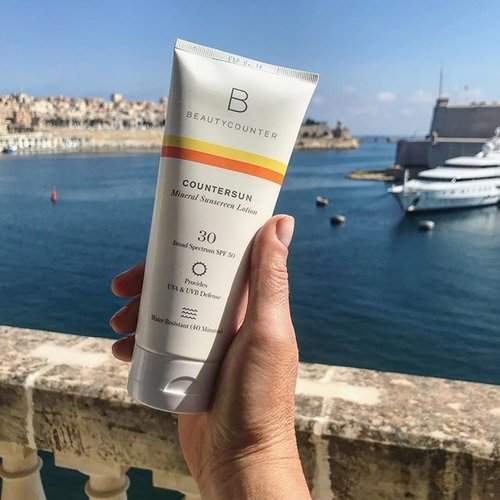 My personal favorite safer sunscreen is Beautycounter's Countersun Mineral Sunscreen Lotion with SPF 30.