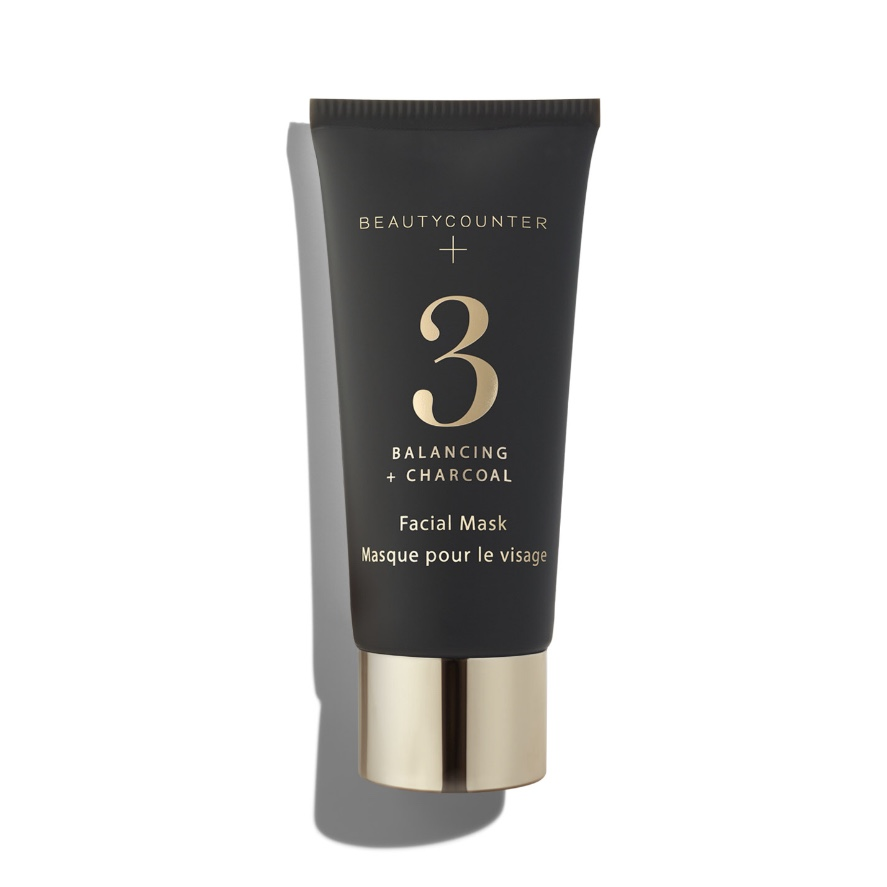 BEAUTYCOUNTER No. 3 Balancing Charcoal Mask - This nutrient-rich kaolin clay mask deep-cleans and balances, absorbing excess oil and drawing out impurities. Activated charcoal minimizes the appearance of pores, giving skin a smooth, refined appearance, while salicylic acid stimulates exfoliation. Perfect for those concerned with congestion and oily skin.Consumer Panel Test Results:- 97% said mask refined and smoothed skin.- 94% said mask absorbed excess oil.- 87% said mask detoxified pores and purified skin.- 84% said mask made skin look clearer and more even-toned.