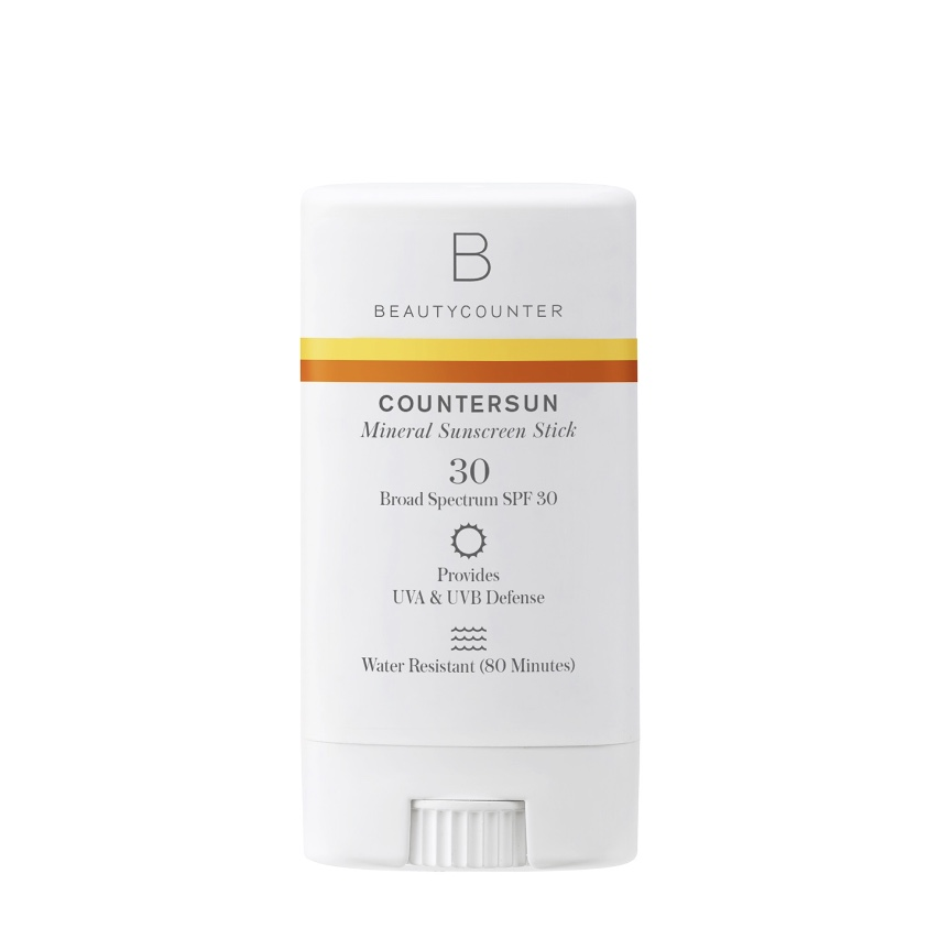 BEAUTYCOUNTER Countersun Mineral Sunscreen Stick SPF30 - - formulated with non-nano zinc oxide and antioxidant-rich California Poppy- protects against damaging UVA, UVB and Blue Light- ultra-moisturizing cocoa-butter infused formula glides on smoothly without leaving a white residue- super convenient, great for kids, and reef-friendly- hands down, the safest and most effective sunscreen on the market- stick is my favorite and most convenient. I have one in every bag I own.Shop RISK FREE! Return anything with no questions asked within 60 days. You even get return shipping free!SUBSCRIBE to my newsletter and get a $15 Gift Certificate for Beautycounter products.