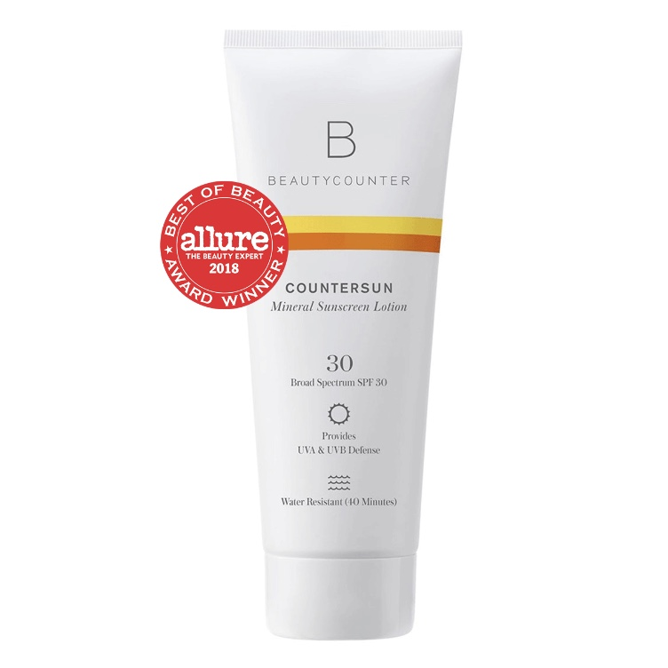 BEAUTYCOUNTER Countersun Mineral Sunscreen Lotion SPF30 - - formulated with non-nano zinc oxide and antioxidant-rich California Poppy- protects against damaging UVA, UVB and Blue Light- lightweight, water-resistant formula that does not streak or leave any white residue- reef-friendly- hands down, the safest and most effective sunscreen on the market▶️ for TRAVEL SIZE, click HERE 💼Shop RISK FREE! Return anything with no questions asked within 60 days. You even get return shipping free!SUBSCRIBE to my newsletter and get a $15 Gift Certificate for Beautycounter products.