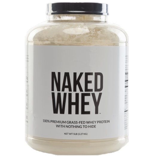 - It took me years to find this protein powder, as everything else is loaded with toxic ingredients and artificial this or that. Naked Whey contains only 1 ingredient: whey exclusively from grass-fed cows's milk sourced from small California dairy farms. It contains a whopping 25 g of protein, 5.9 g of BCAAs per serving, and is cold processed, using acid and bleach free processing. Most importantly, it has no artificial flavors, colors or sweeteners. Can you say that about YOUR protein? Best of all, it makes everything taste like a delicious milkshake and the bulk container price makes it cheaper per ounce than just about all of its other chemical-laden competitors.